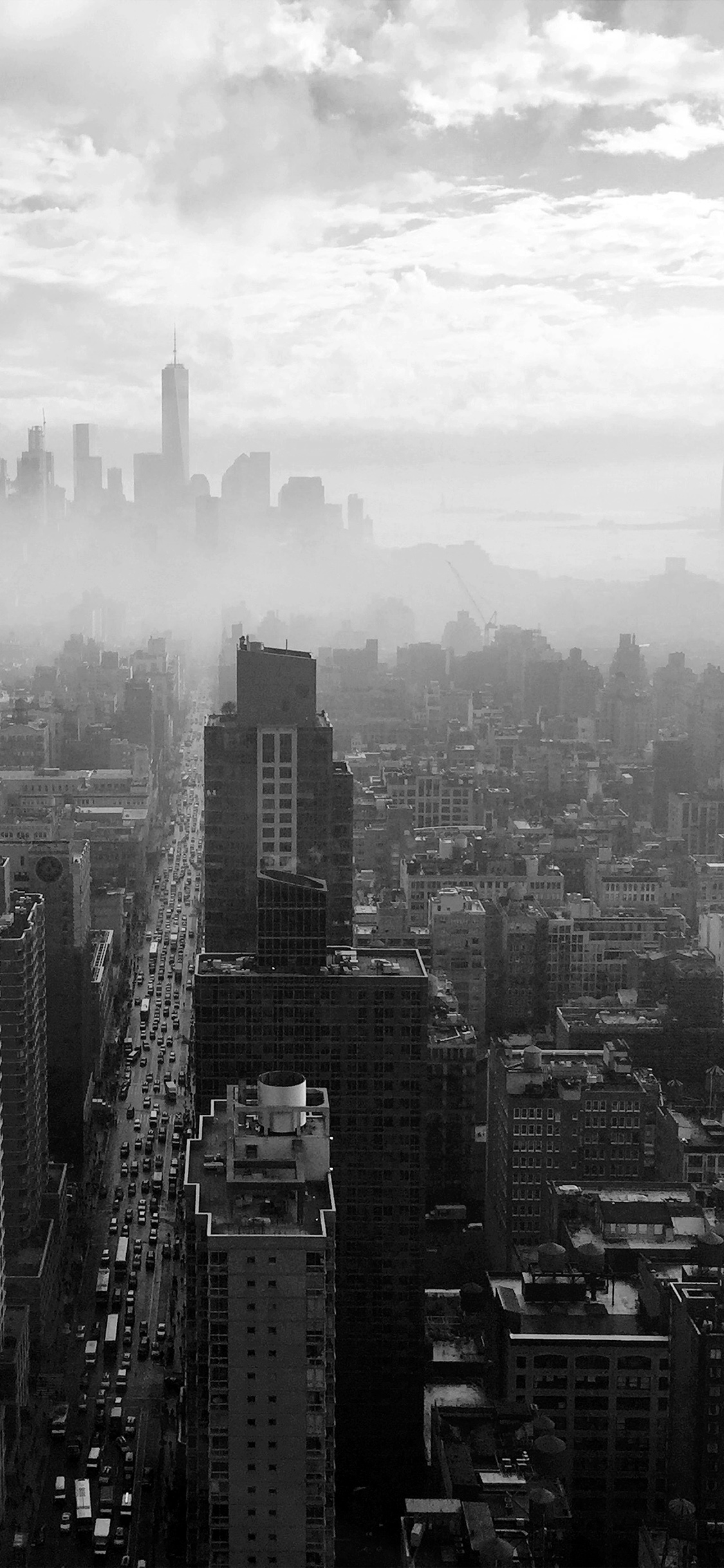 Iphone11papers Com Iphone11 Wallpaper No67 City Builiding Architecture Newyork Nature Bw Dark