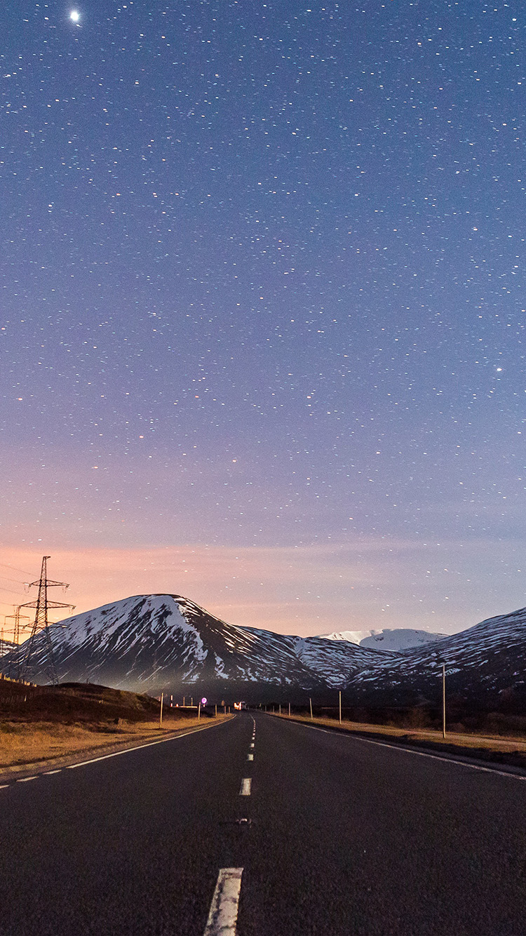 iPhone7papers.com-Apple-iPhone7-iphone7plus-wallpaper-no73-sky-star-lovely-road-street-mountain-winter-nature