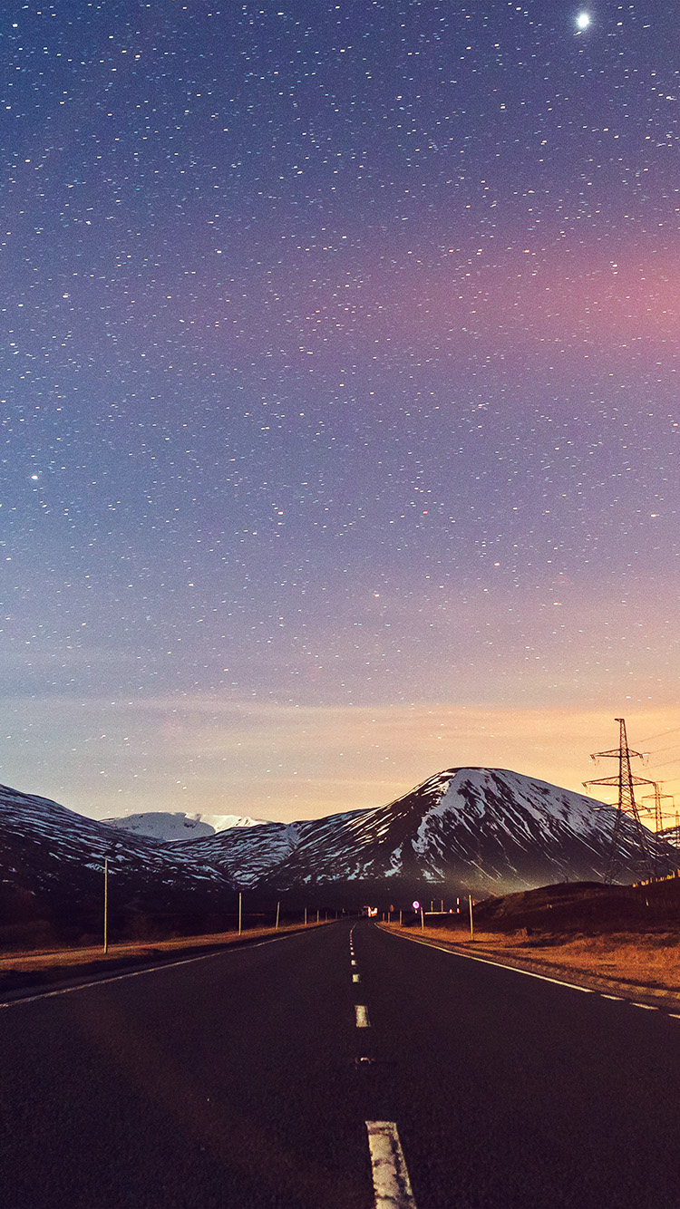 Papers.co-iPhone5-iphone6-plus-wallpaper-no75-sky-star-lovely-road-street-mountain-winter-nature-flare