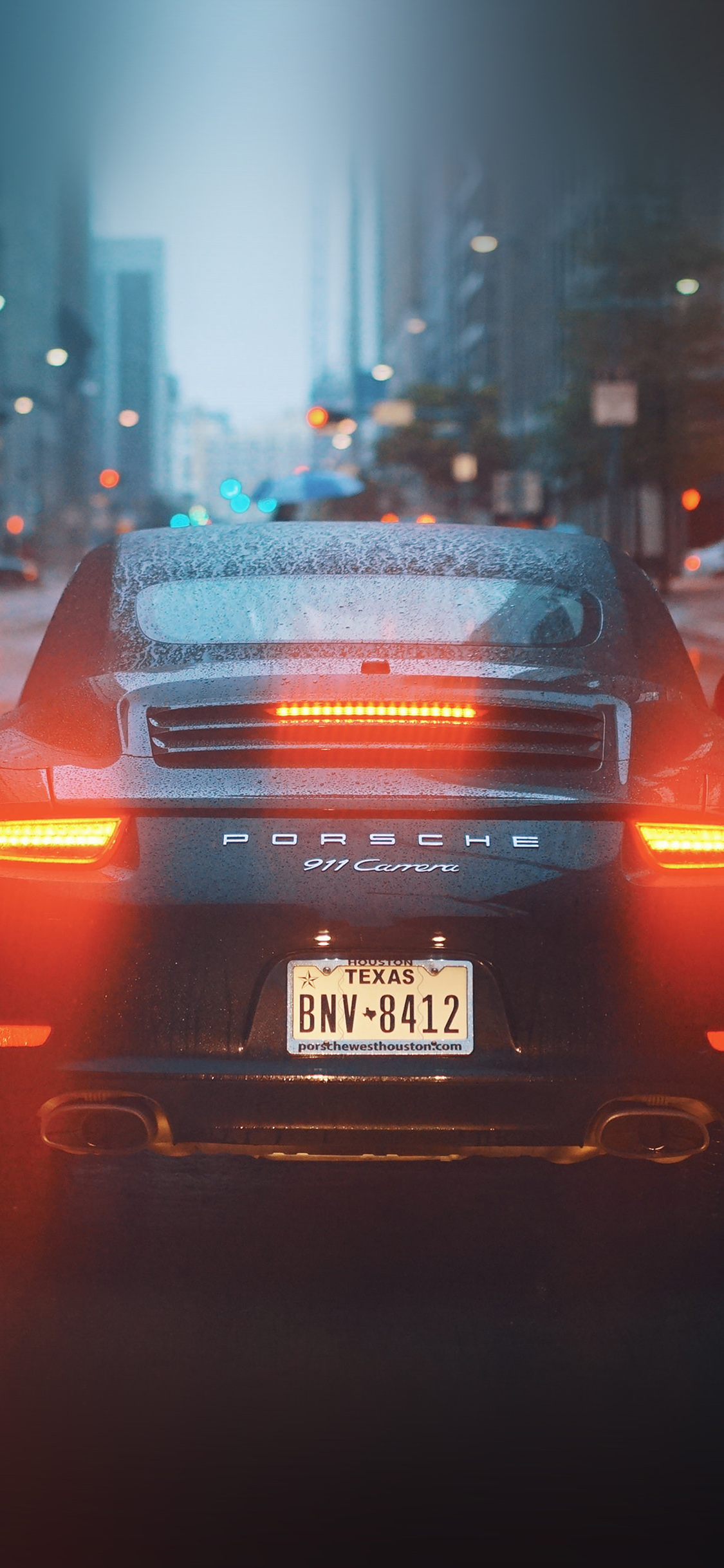Np26 Car Porche Street City Nature Wallpaper