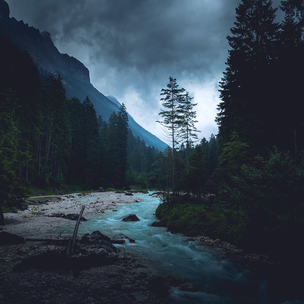 wallpaper-np32-mountain-wood-night-dark-river-nature-blue-wallpaper