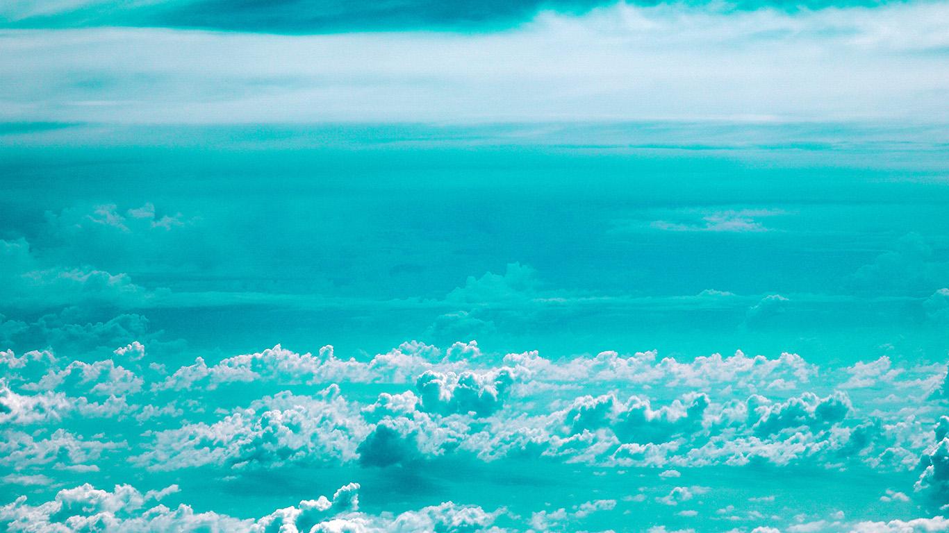 Papersco Desktop Wallpaper Np78 Cloud Sky Blue Nature Green