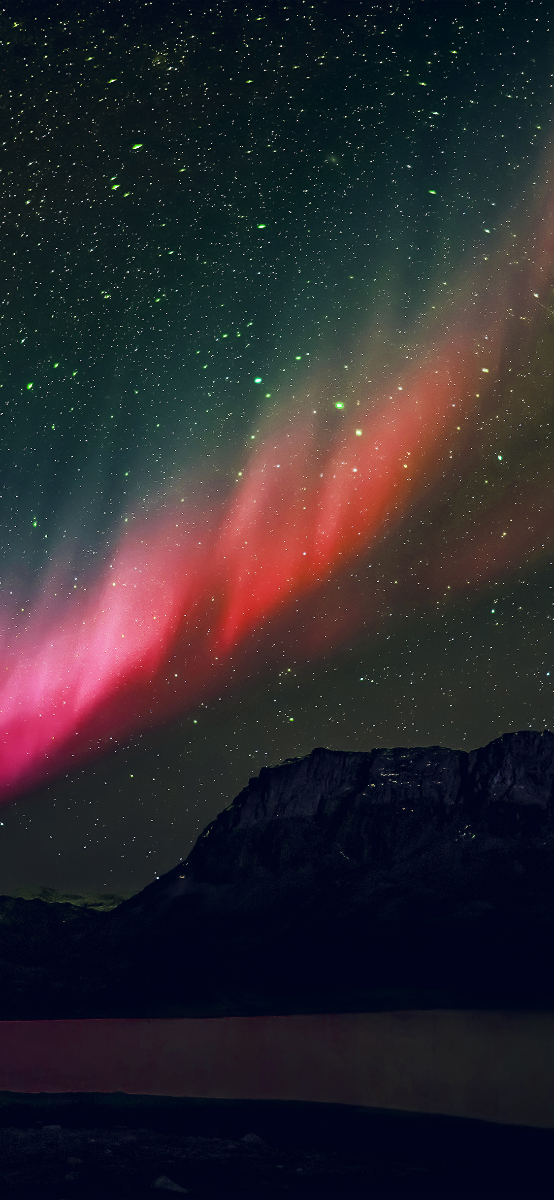 iPhoneXpapers.com-Apple-iPhone-wallpaper-nq53-aurora-night-sky-mountain-space-nature-rainbow-love