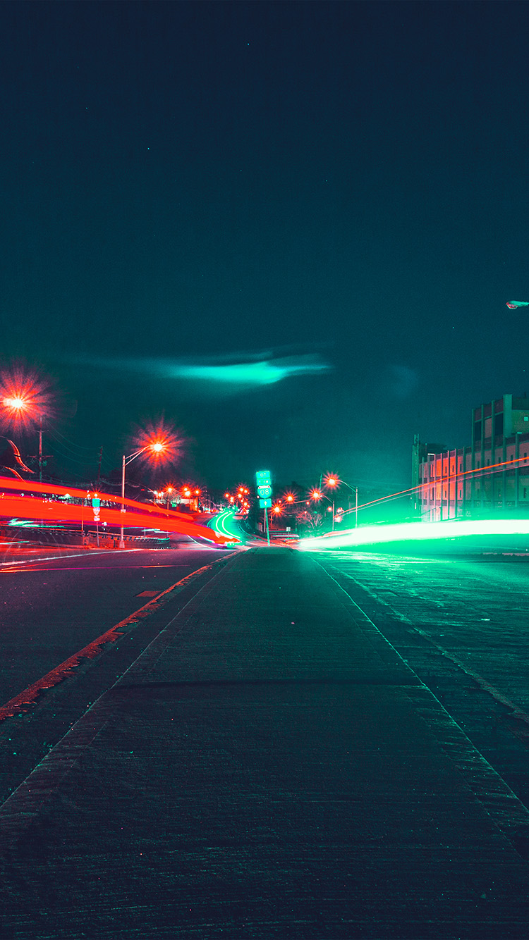 iPhone7papers.com-Apple-iPhone7-iphone7plus-wallpaper-nq58-street-light-night-city-nature-green