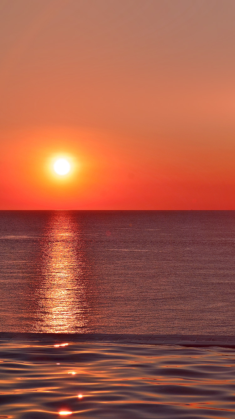 iPhonepapers.com-Apple-iPhone-wallpaper-nq97-sunset-sea-sky-nature-red-flare