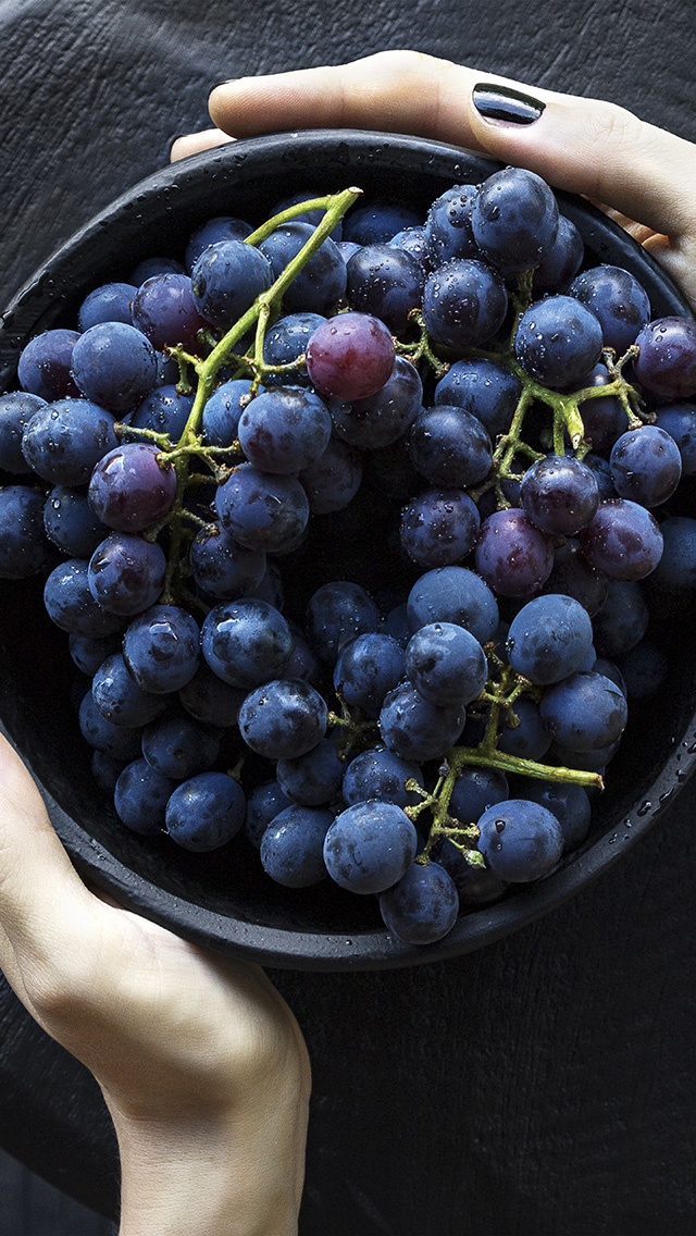 freeios8.com-iphone-4-5-6-plus-ipad-ios8-nr22-grape-fruit-summer-eat-food-nature
