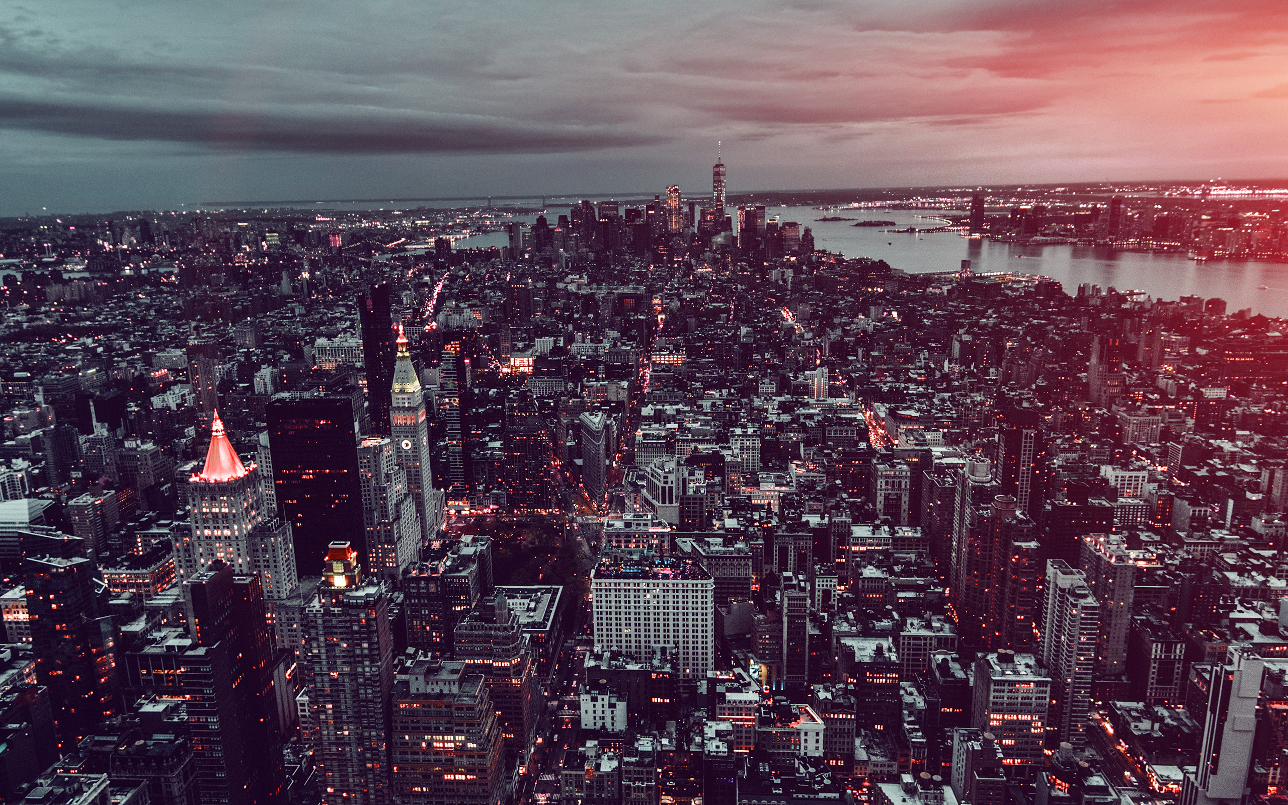 Ns06 Unsplash City Sky Newyork Building Nature Dark Flare Wallpaper