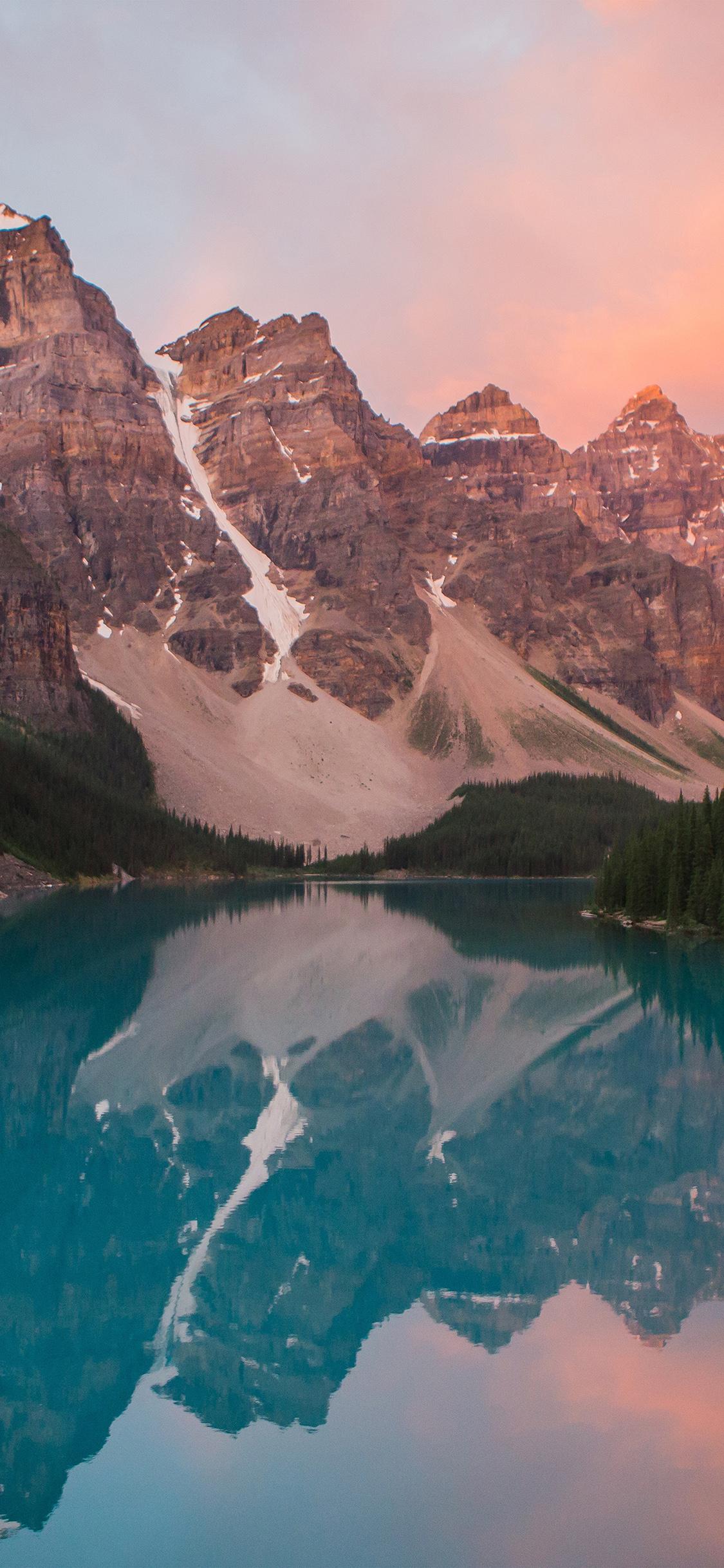 iPhoneXpapers.com-Apple-iPhone-wallpaper-ns24-lake-mountain-pink-sunset-nature