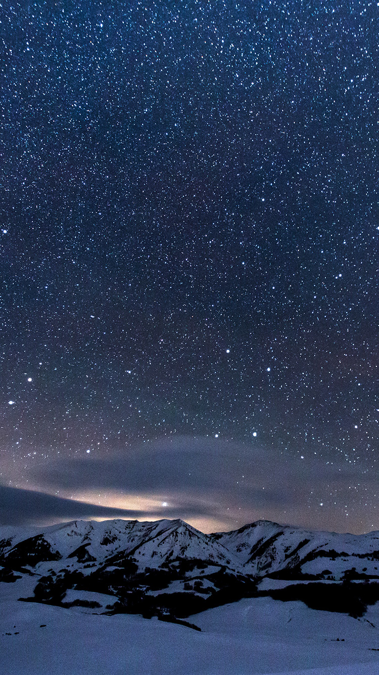 iphonepapers | iphone wallpaper | ns40-snow-night-sky-star-space