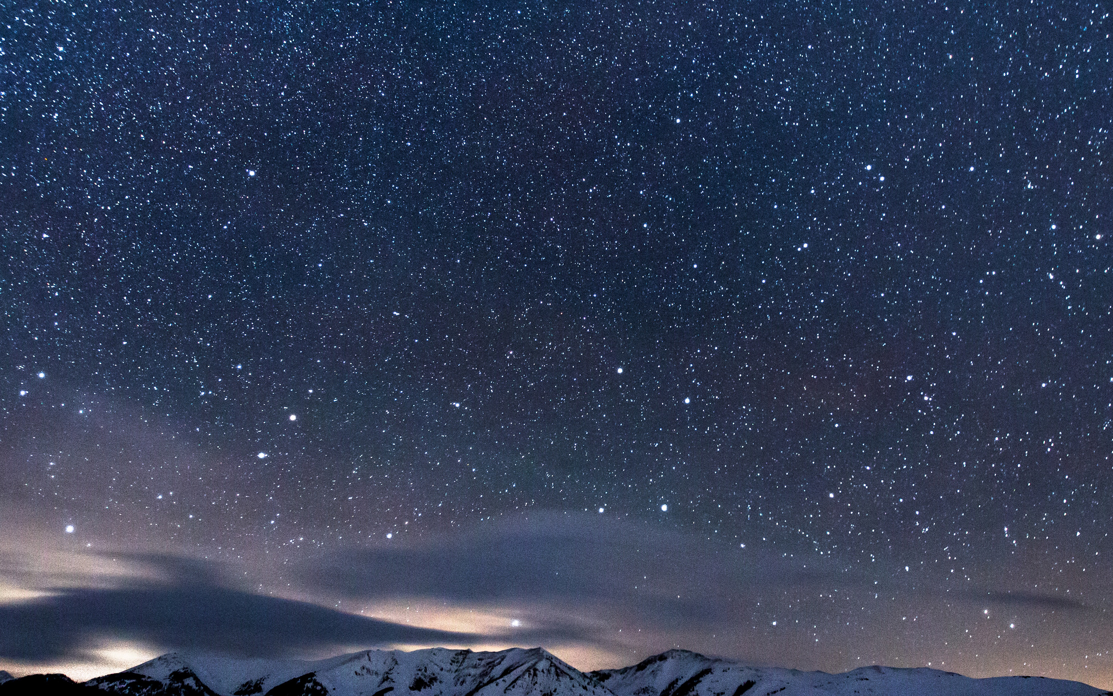 Ns40 Snow Night Sky Star Space Nature Wallpaper