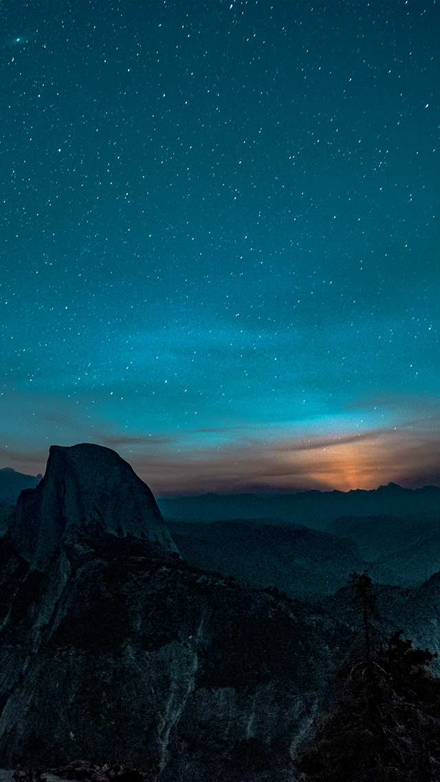 Freeios7 Com Iphone Wallpaper Ns52 Mountain Night Sky