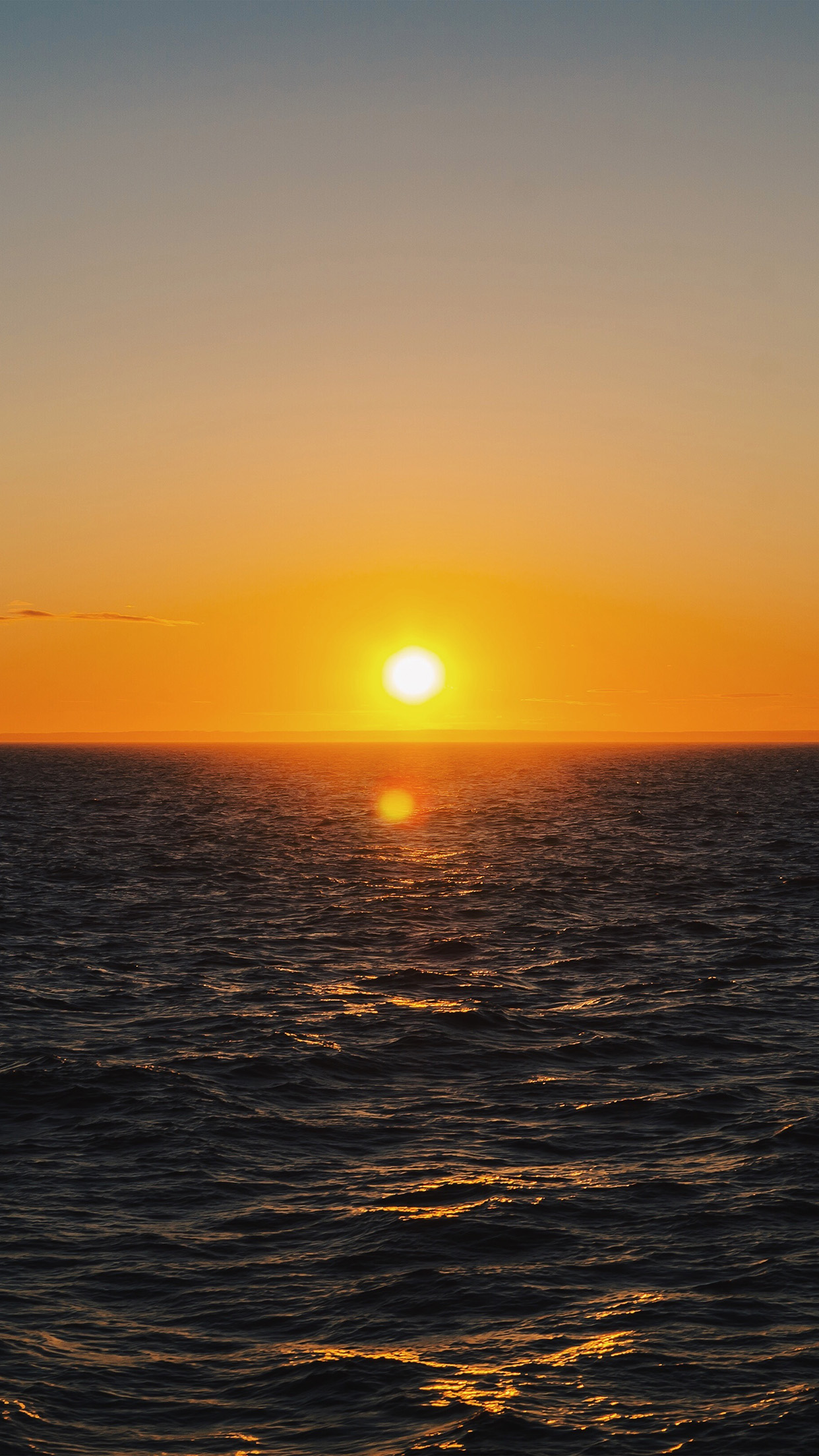 Nt45 Sunrise Sea Nature Wallpaper