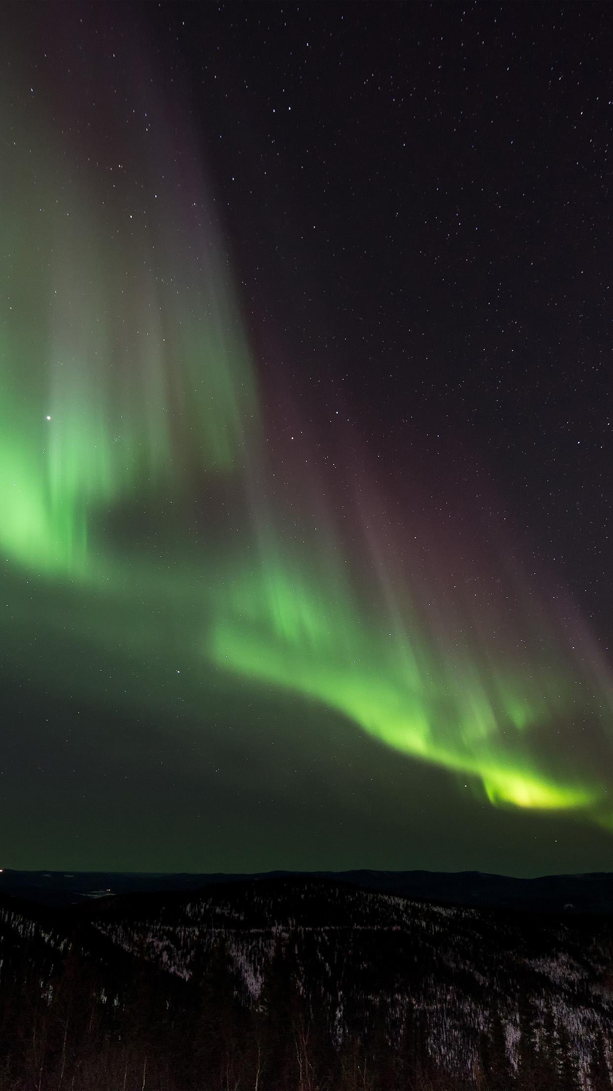 Nt58 Aurora Night Sky Nature Wallpaper