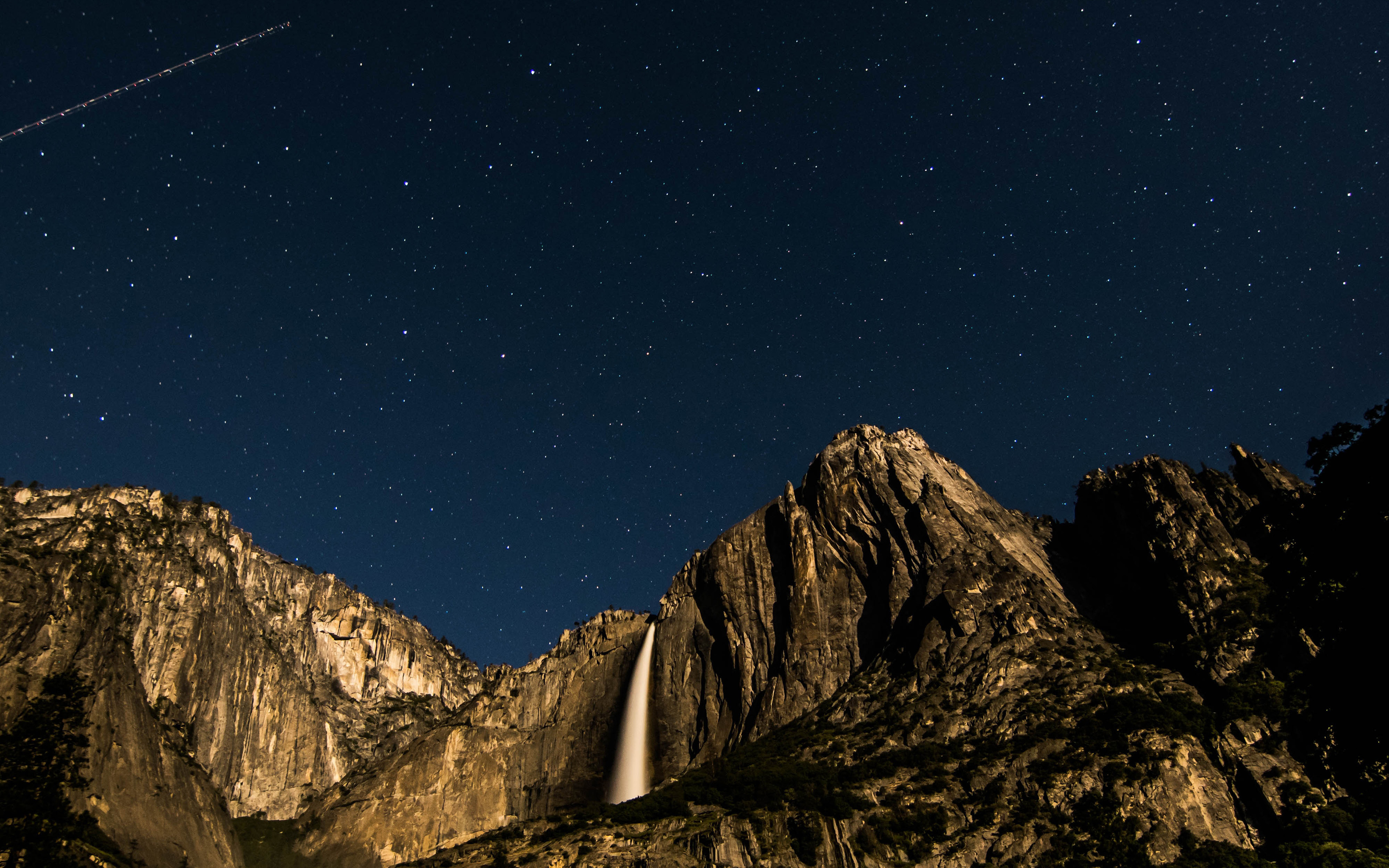 Nt82 Sky Star Mountain Night Nature Wallpaper