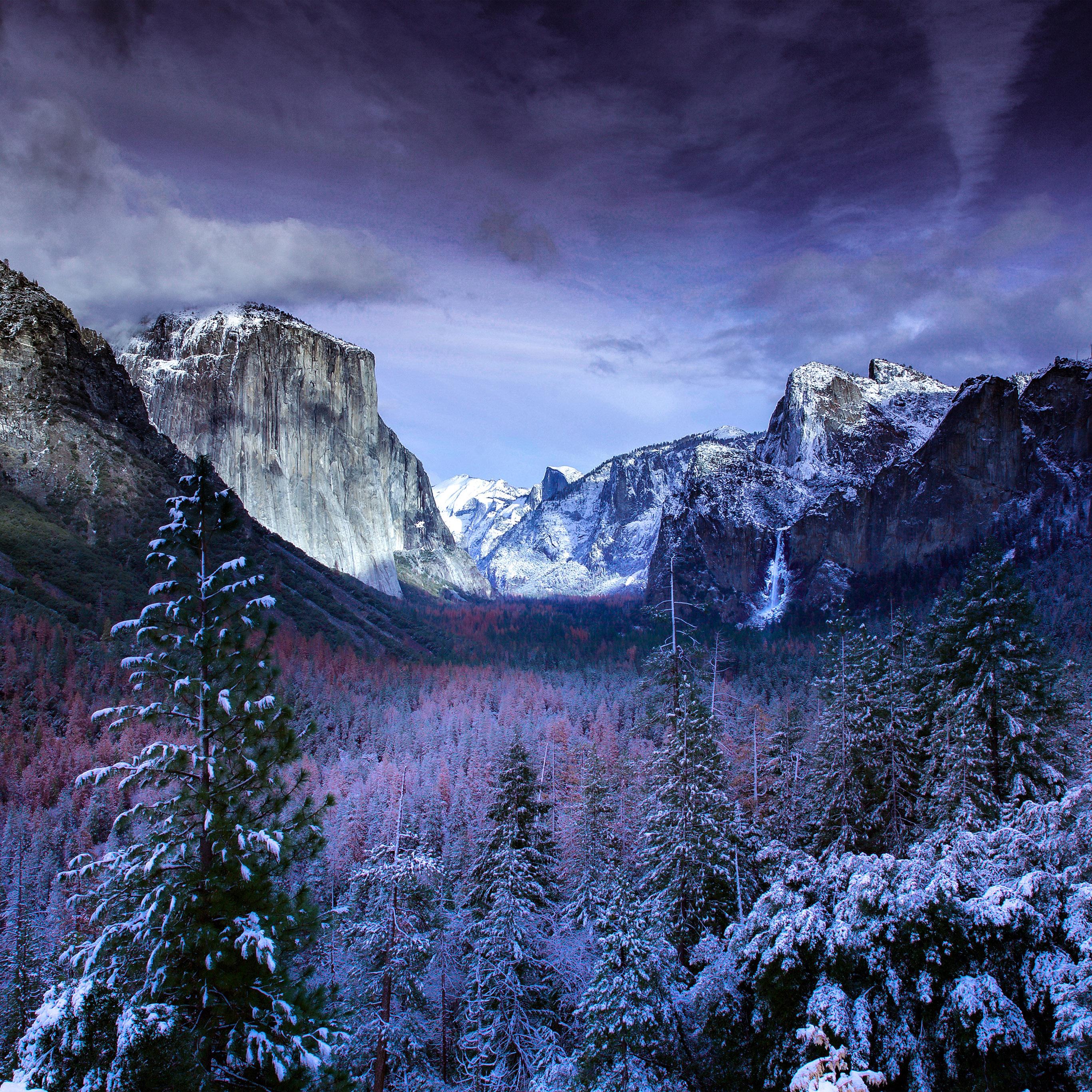 Winter Wallpaper: Nu16-winter-mountain-snow-nature-wallpaper