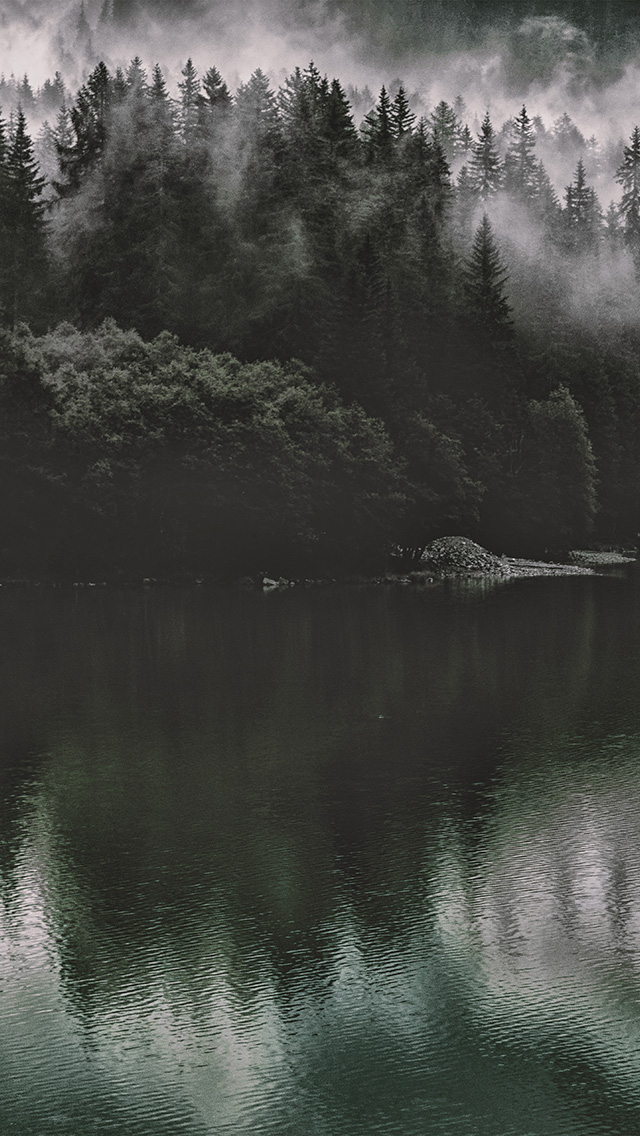 freeios8.com-iphone-4-5-6-plus-ipad-ios8-nu46-lake-mountain-water-dark-nature