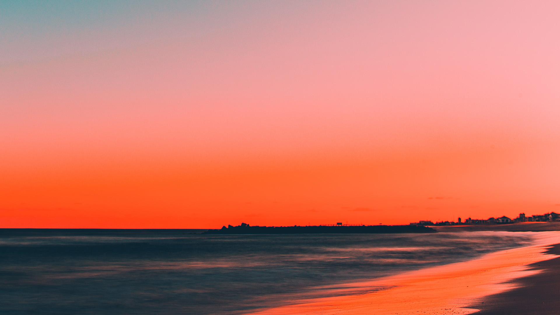 Nu77 Sunset Beach Fall Night Sea Nature Wallpaper