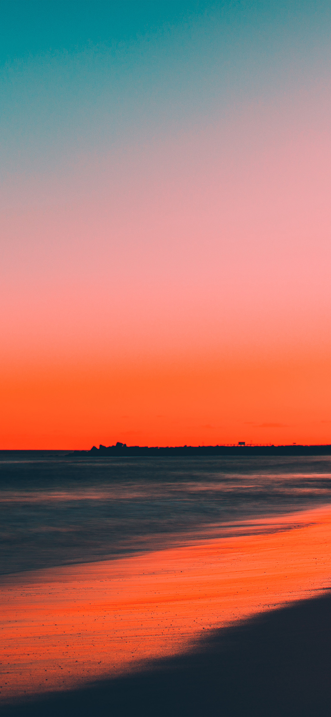 Papers Co Iphone Wallpaper Nu77 Sunset Beach Fall Night Sea Nature