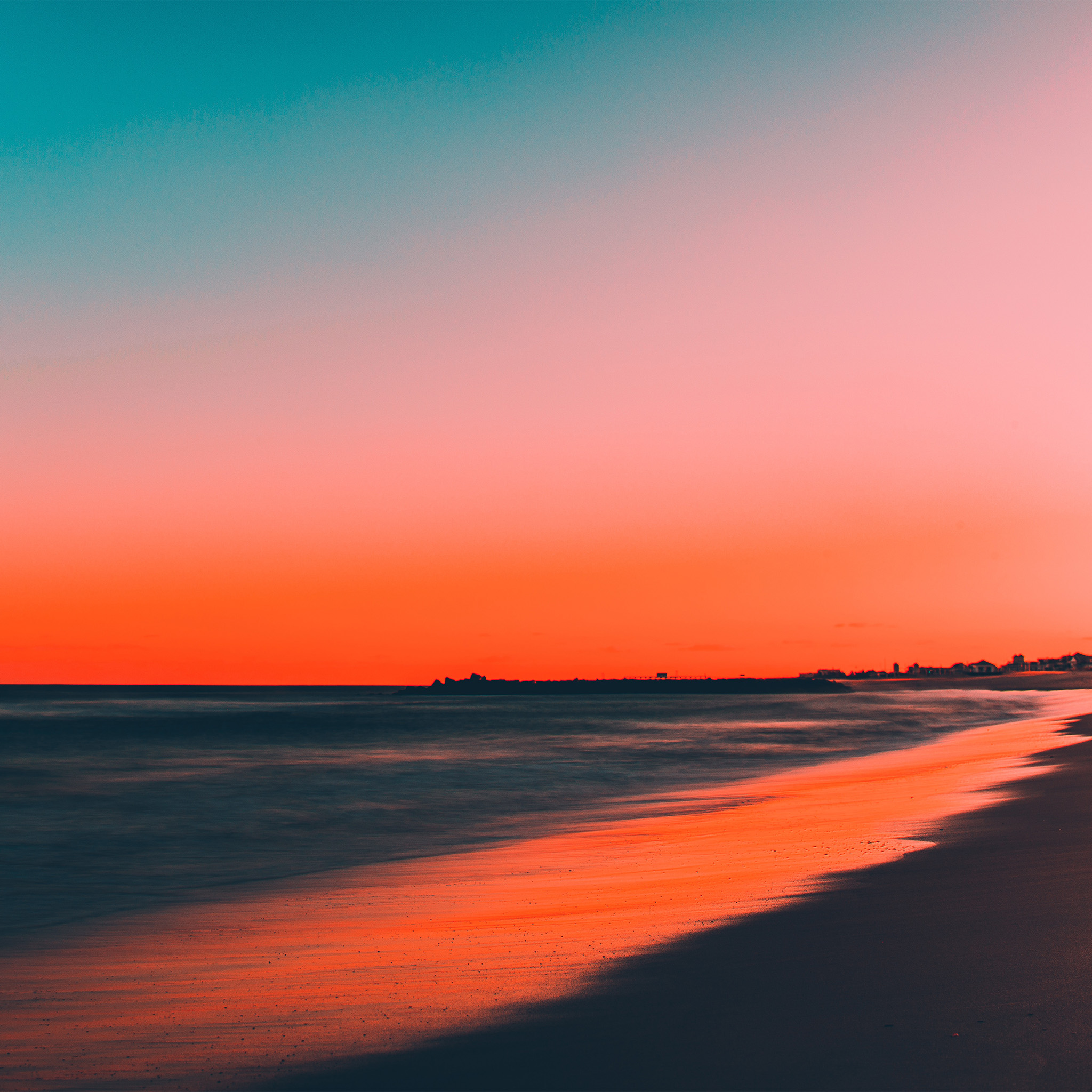 Nu77-sunset-beach-fall-night-sea-nature-wallpaper