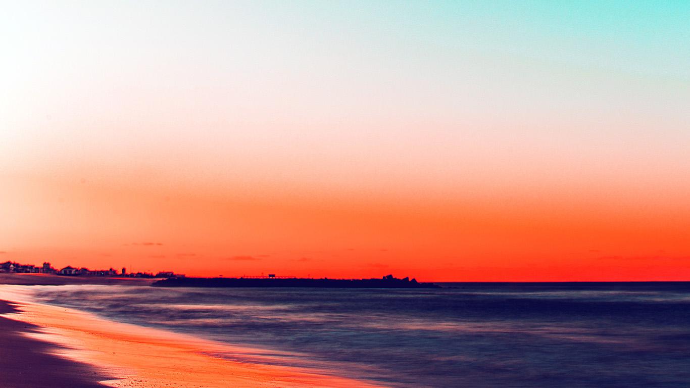 Wallpaper For Desktop Laptop Nu78 Sunset Beach Fall Night Sea Nature Red