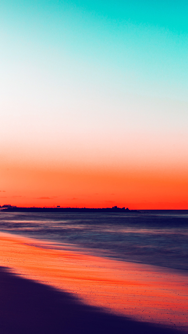 Papers.co-iPhone5-iphone6-plus-wallpaper-nu78-sunset-beach-fall-night-sea-nature-red