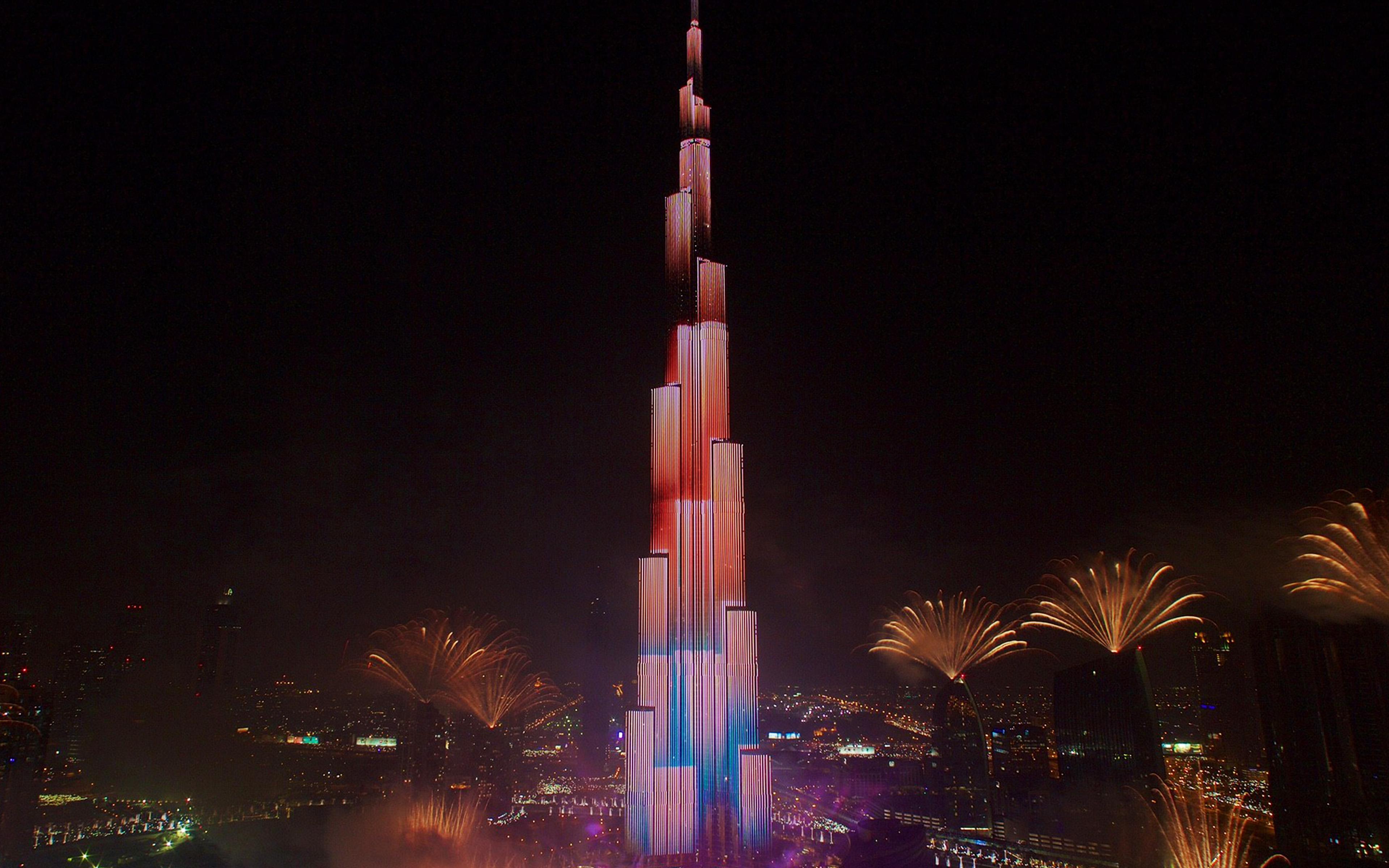 Nu88 New Year Dubai 2018 City Night Nature Wallpaper