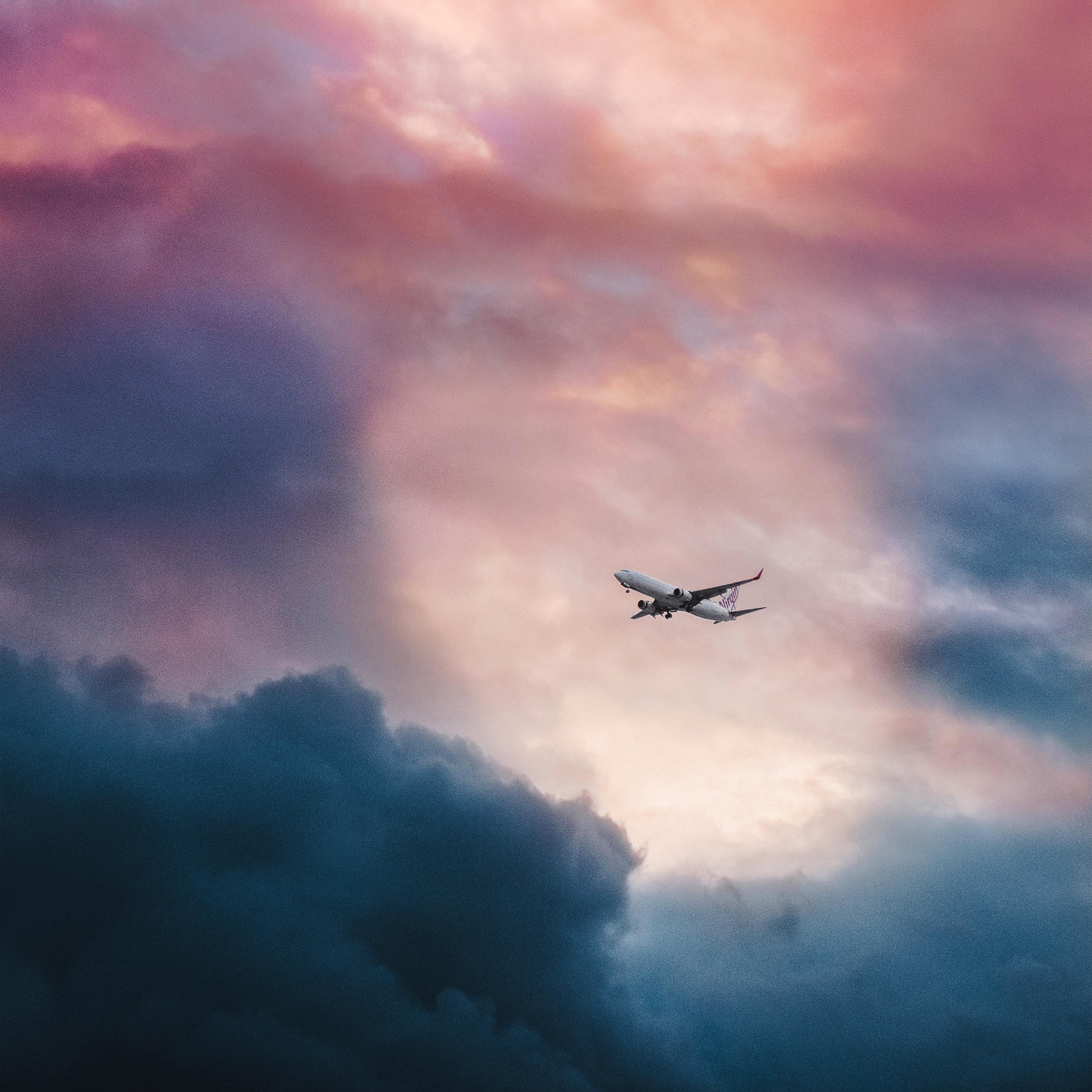 Best Apple Logo Iphone Wallpaper: Nv09-cloud-plane-fly-sky-nature-wallpaper
