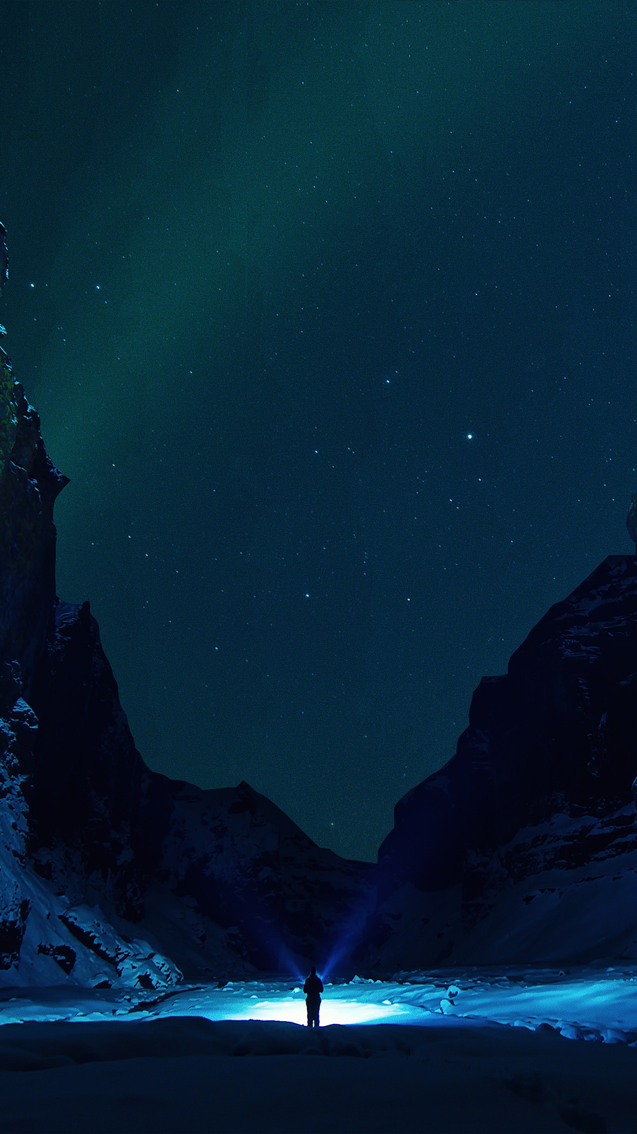 Moto G Plus >> nv33-winter-dark-night-mountain-nature-wallpaper