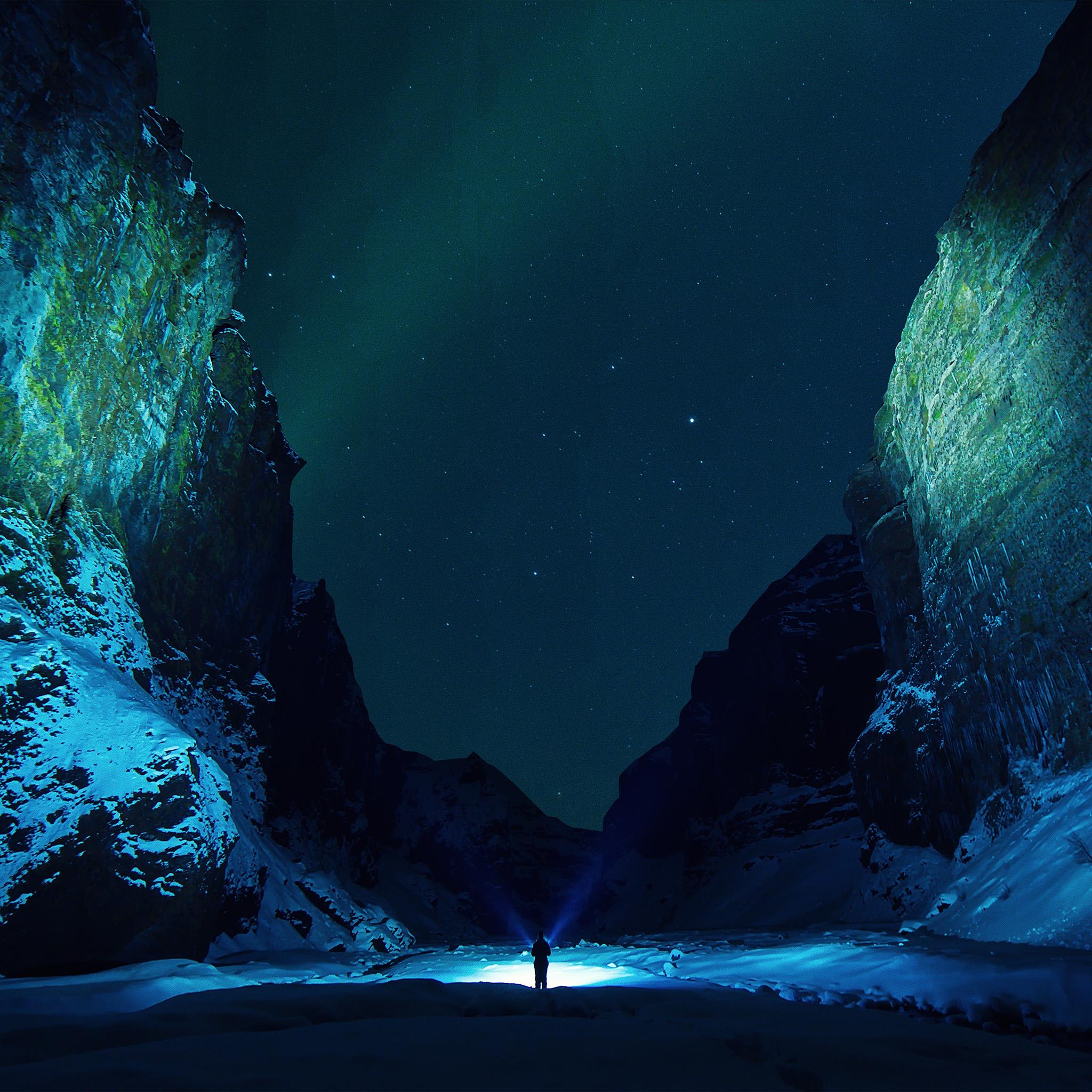 nv33-winter-dark-night-mountain-nature-wallpaper