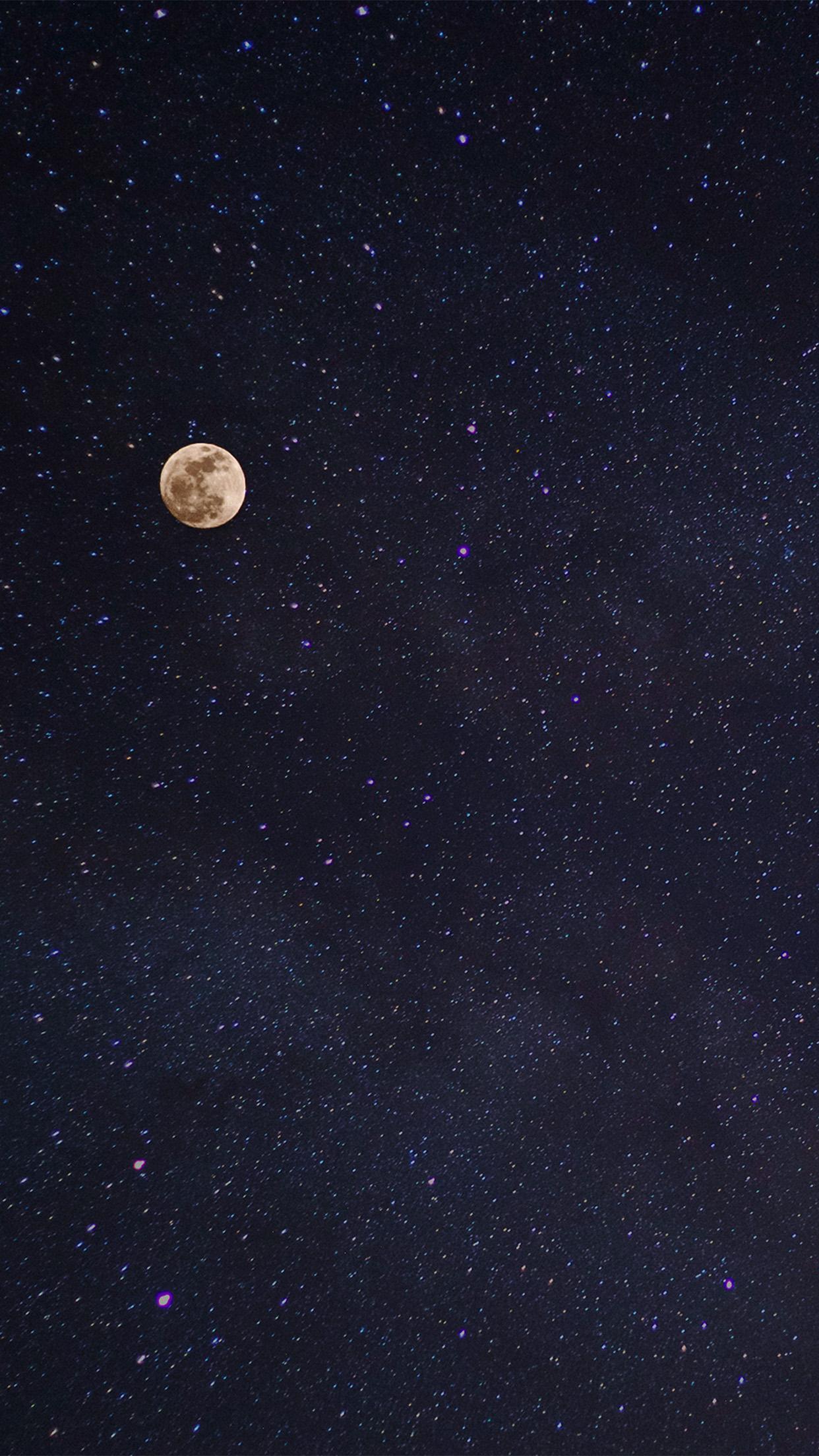 Nv76 Moon Night Space Star Nature Wallpaper