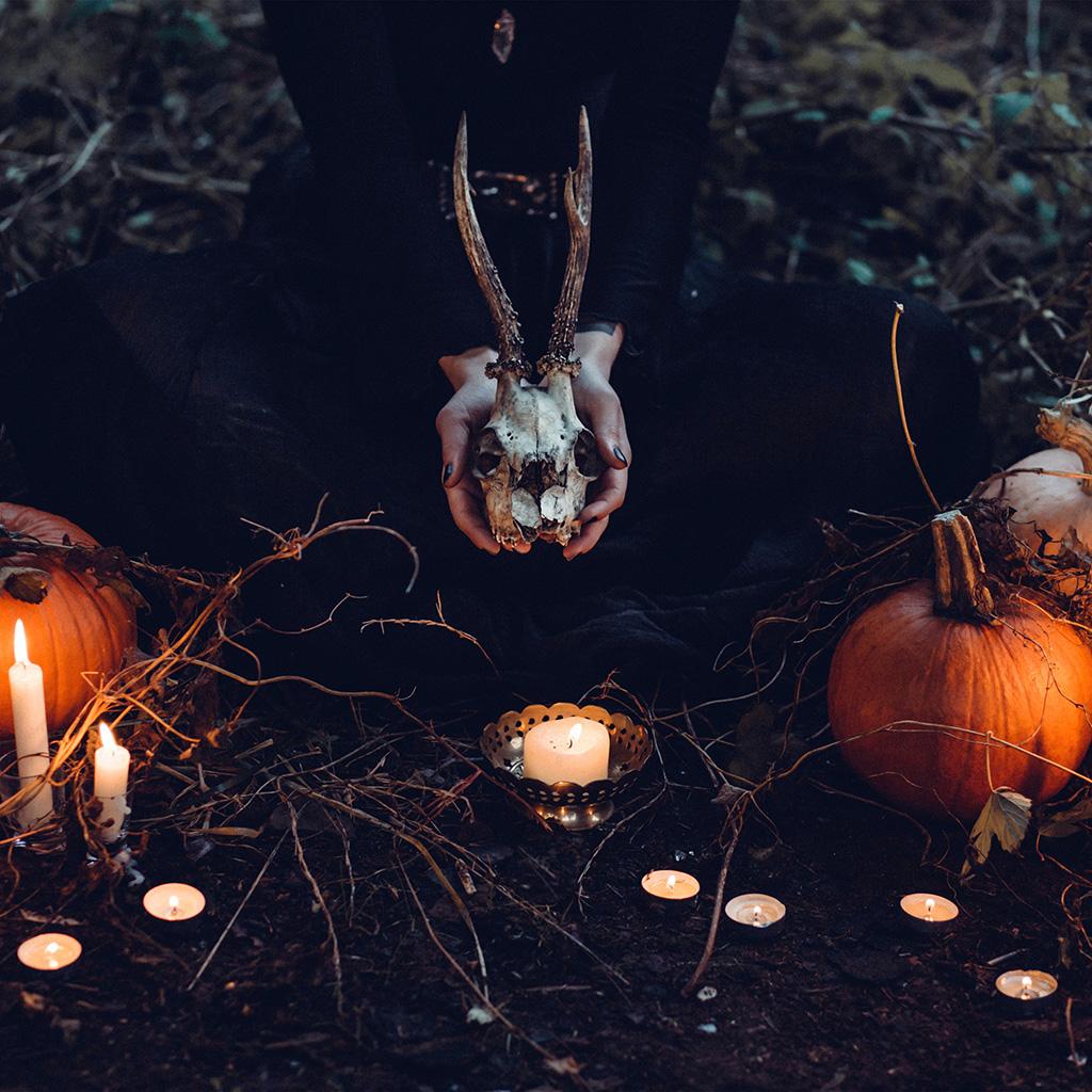 Papersco Ipad Wallpaper Nw17 Halloween Pumpkin Skull