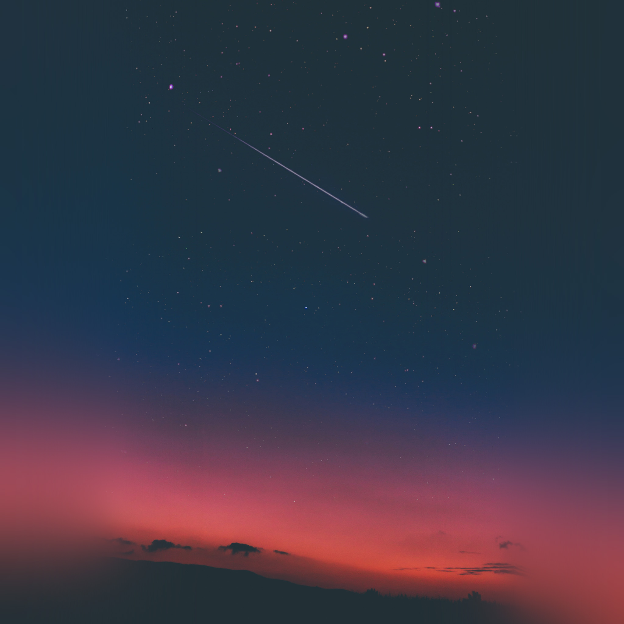 Iphone Wallpaper: Nw35-sky-sunset-night-blue-nature-wallpaper