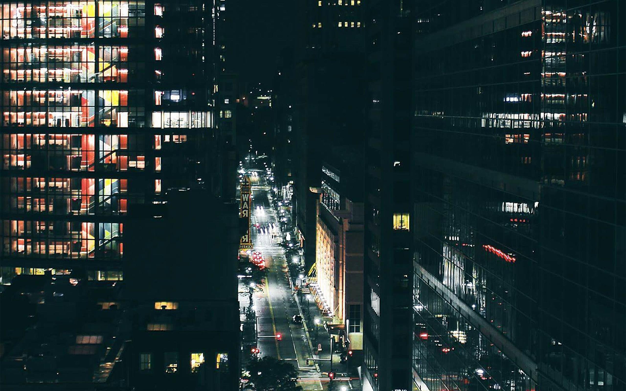 Nw62 City Night Traffic Dark Nature Wallpaper