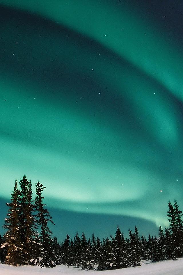 Freeios7 Com Iphone Wallpaper Nw70 Aurora Blue Night Sky Space
