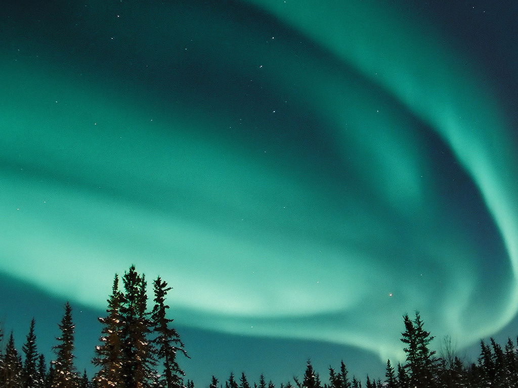 Nw70 Aurora Blue Night Sky Space Nature Winter Wallpaper