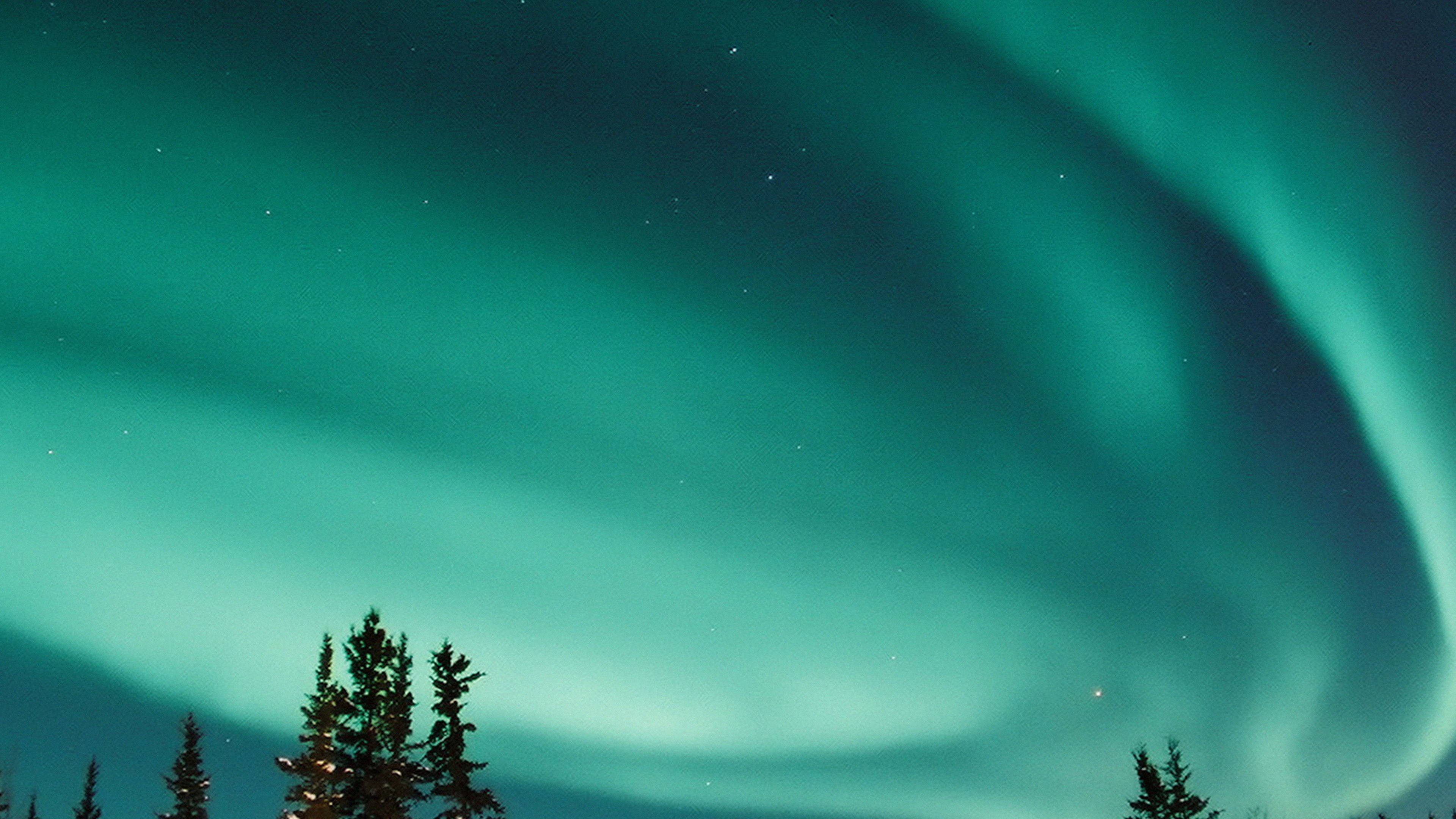 Nw70 Aurora Blue Night Sky Space Nature Winter Wallpaper