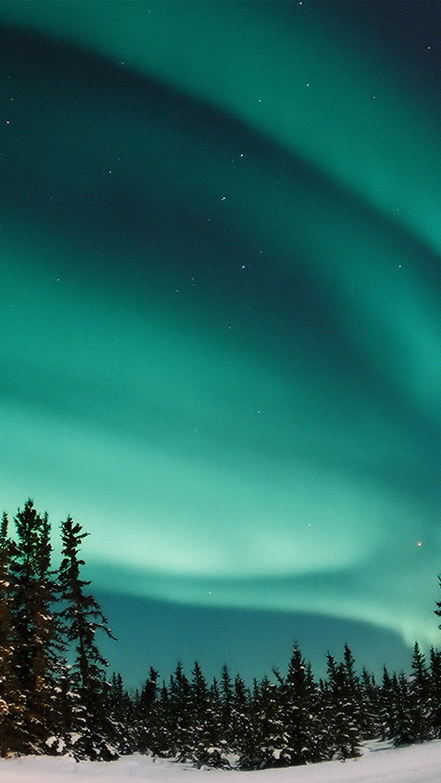 freeios8.com-iphone-4-5-6-plus-ipad-ios8-nw70-aurora-blue-night-sky-space-nature-winter