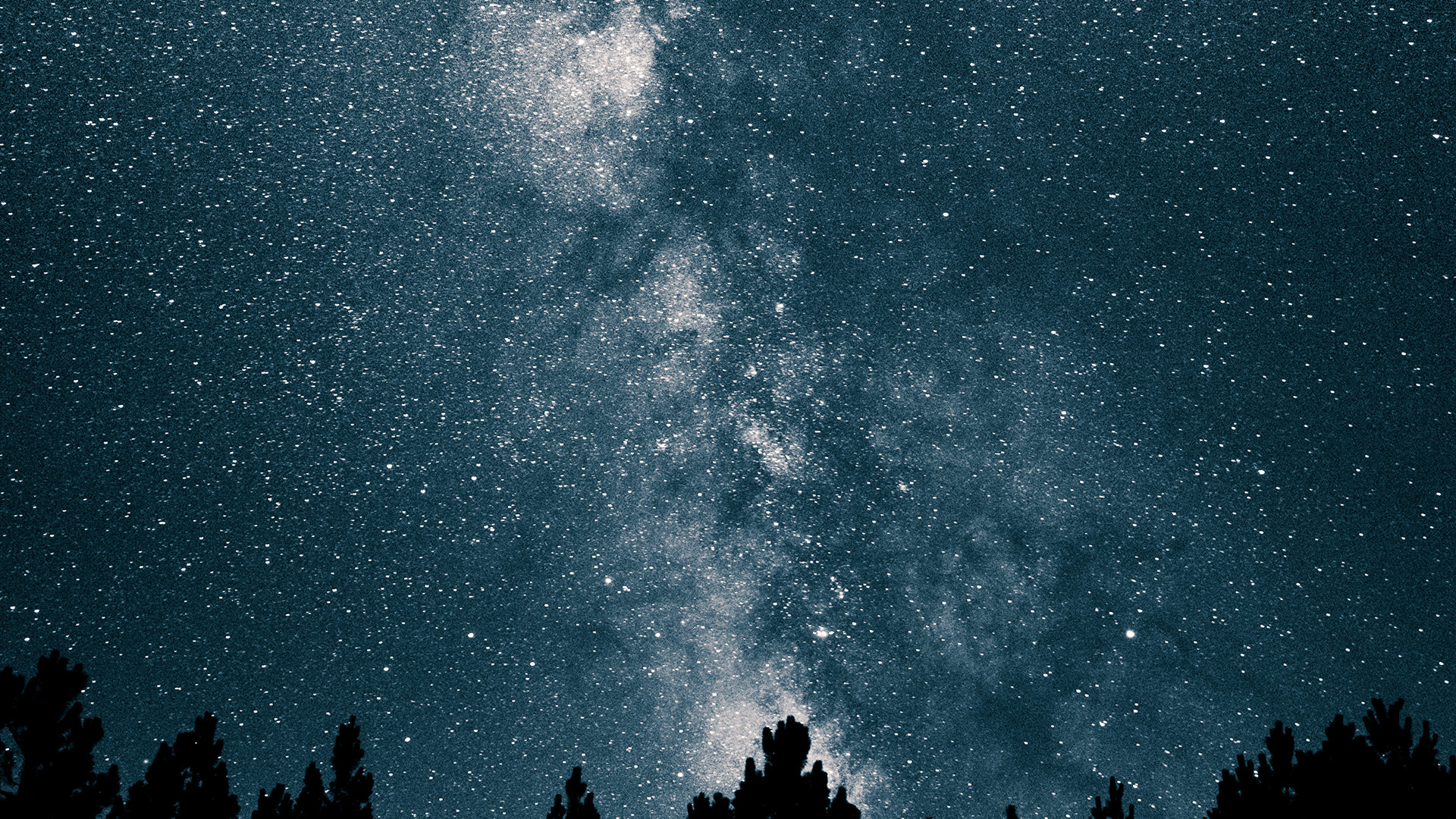 Nw75 Night Sky Space Star Mountain Nature Wallpaper