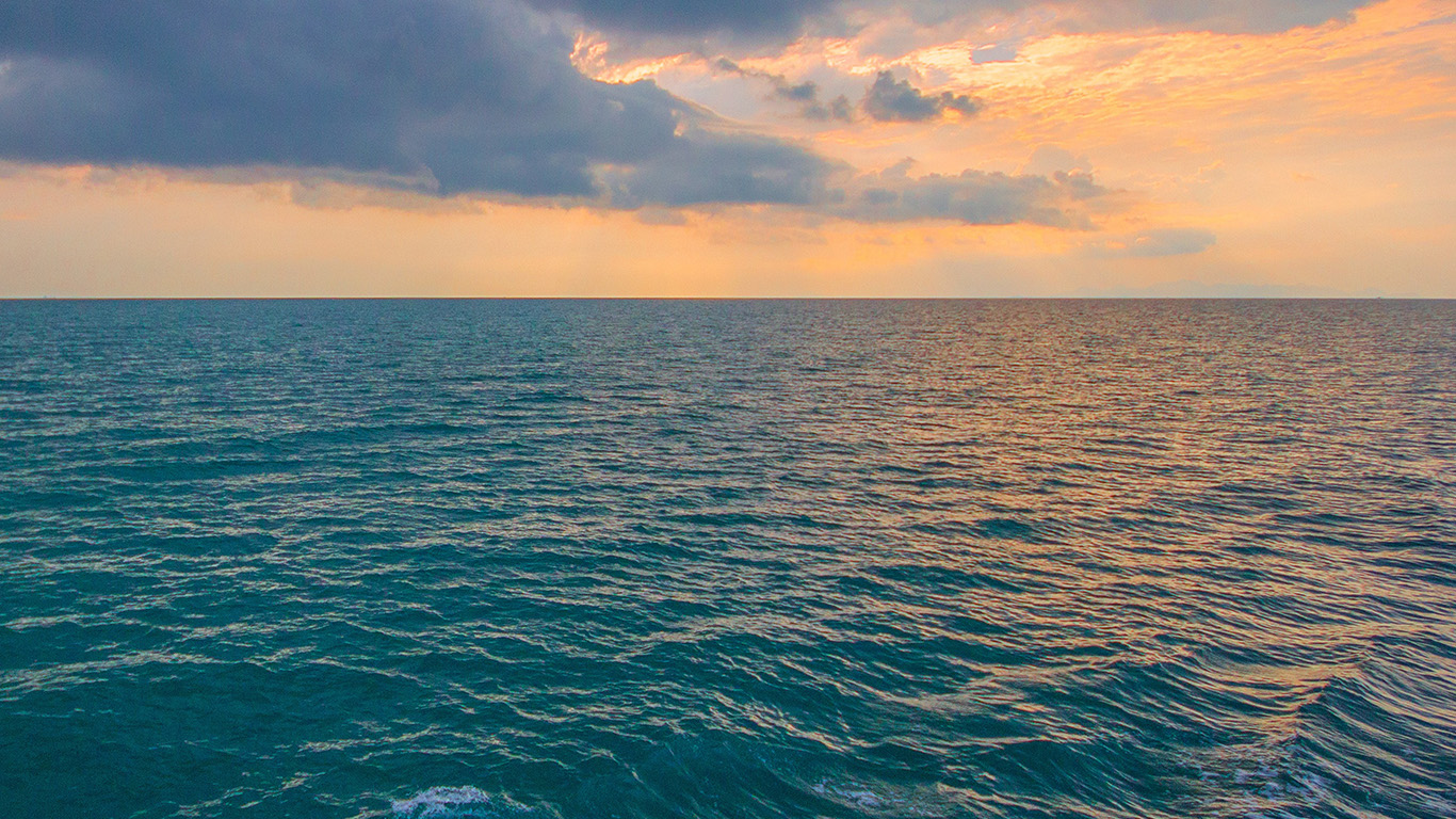 papers.co nx09 sunny sea sunset ocean water nature 29 wallpaper