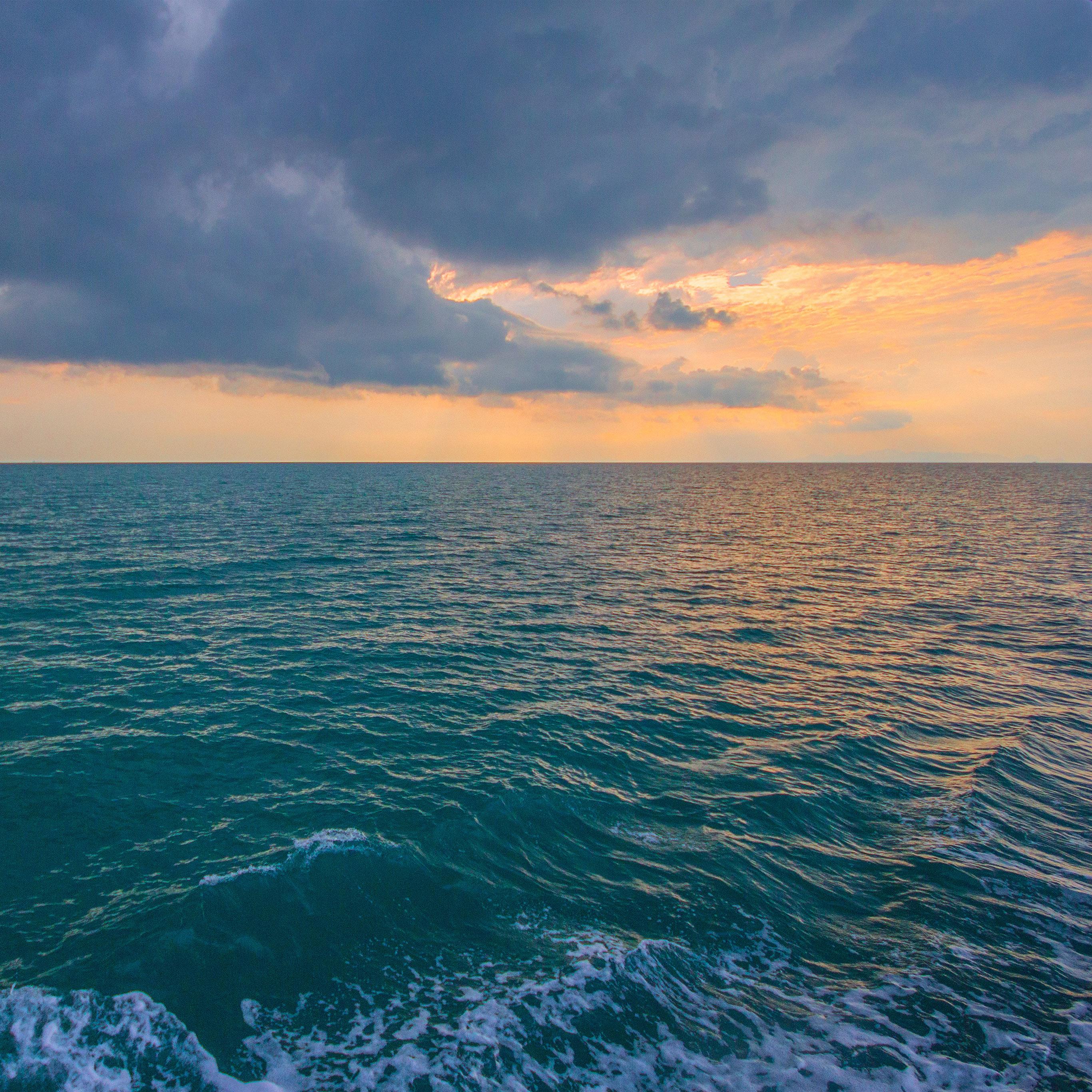 Hd Ocean Wallpaper: Nx09-sunny-sea-sunset-ocean-water-nature-wallpaper