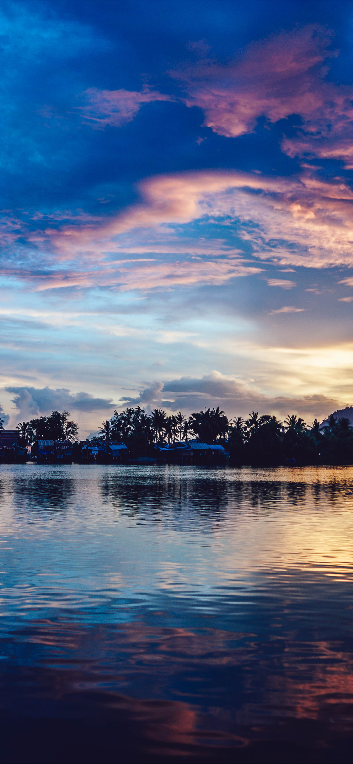 Nx17 sunset river lake beautiful nature wallpaper - Beautiful nature wallpapers for iphone ...