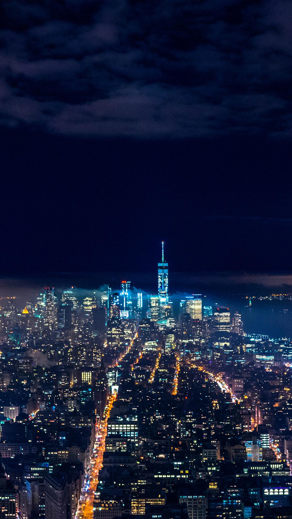 iphonepapers | iphone wallpaper | nx53-city-night-skyline-dark