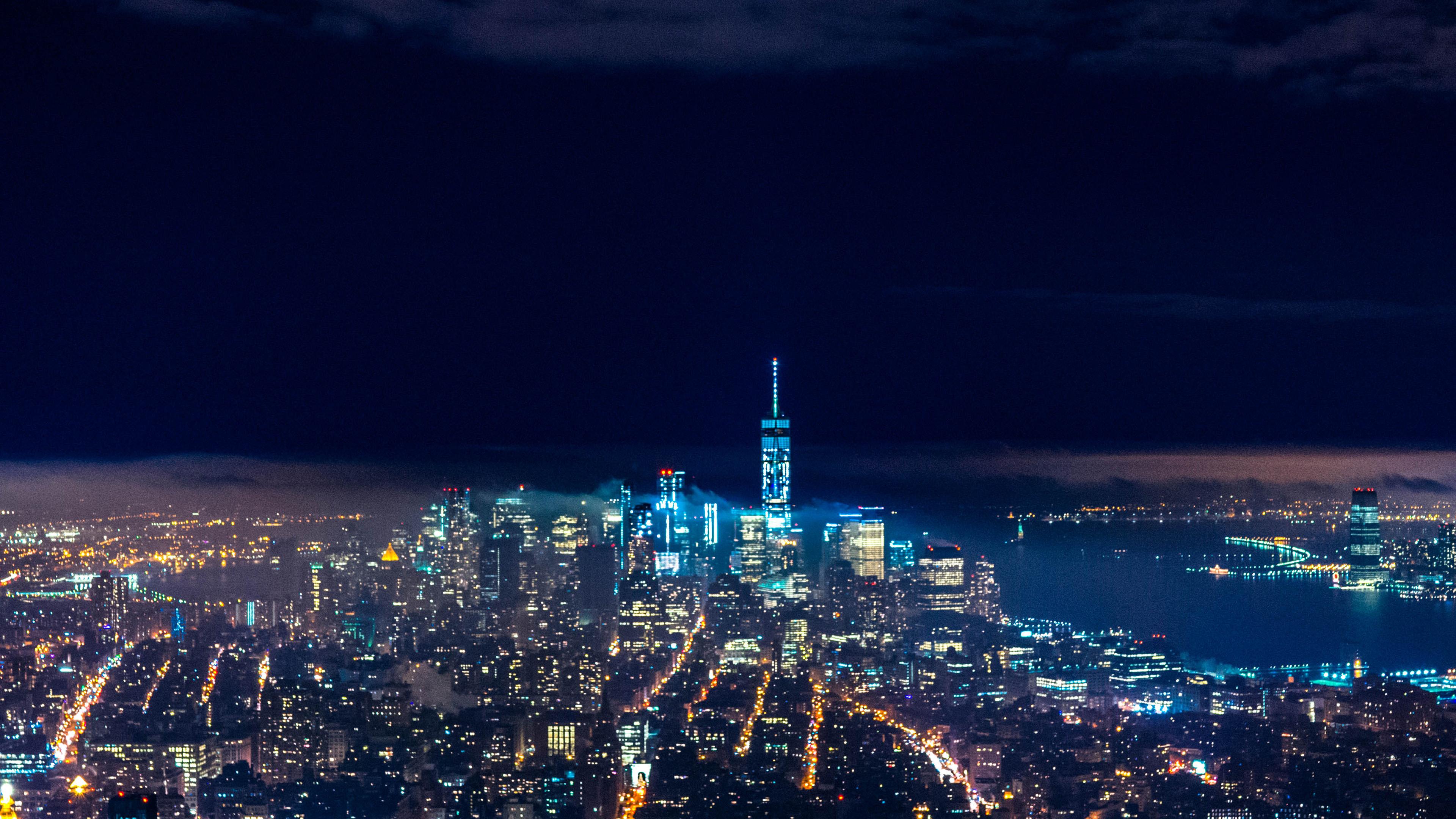 Nx53 City Night Skyline Dark Nature Wallpaper