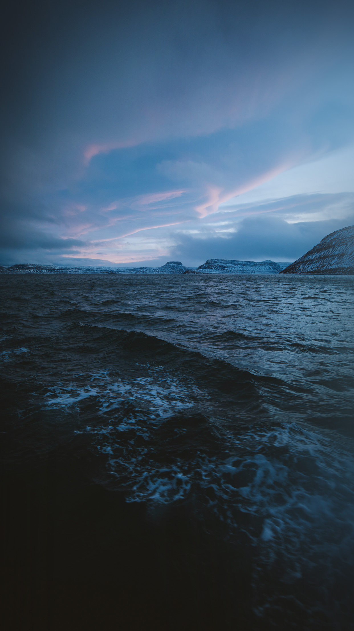 Ny03 Night Sea Wave Sunset Nature Wallpaper
