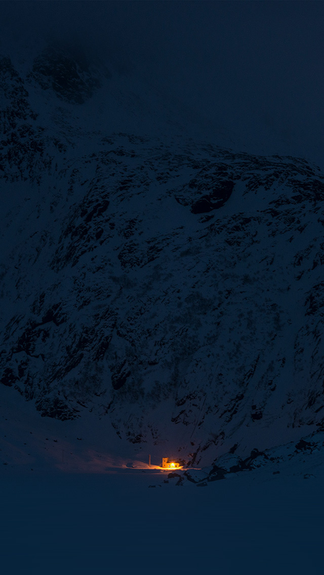 freeios8.com-iphone-4-5-6-plus-ipad-ios8-ny05-mountain-night-light-snow-winter-nature