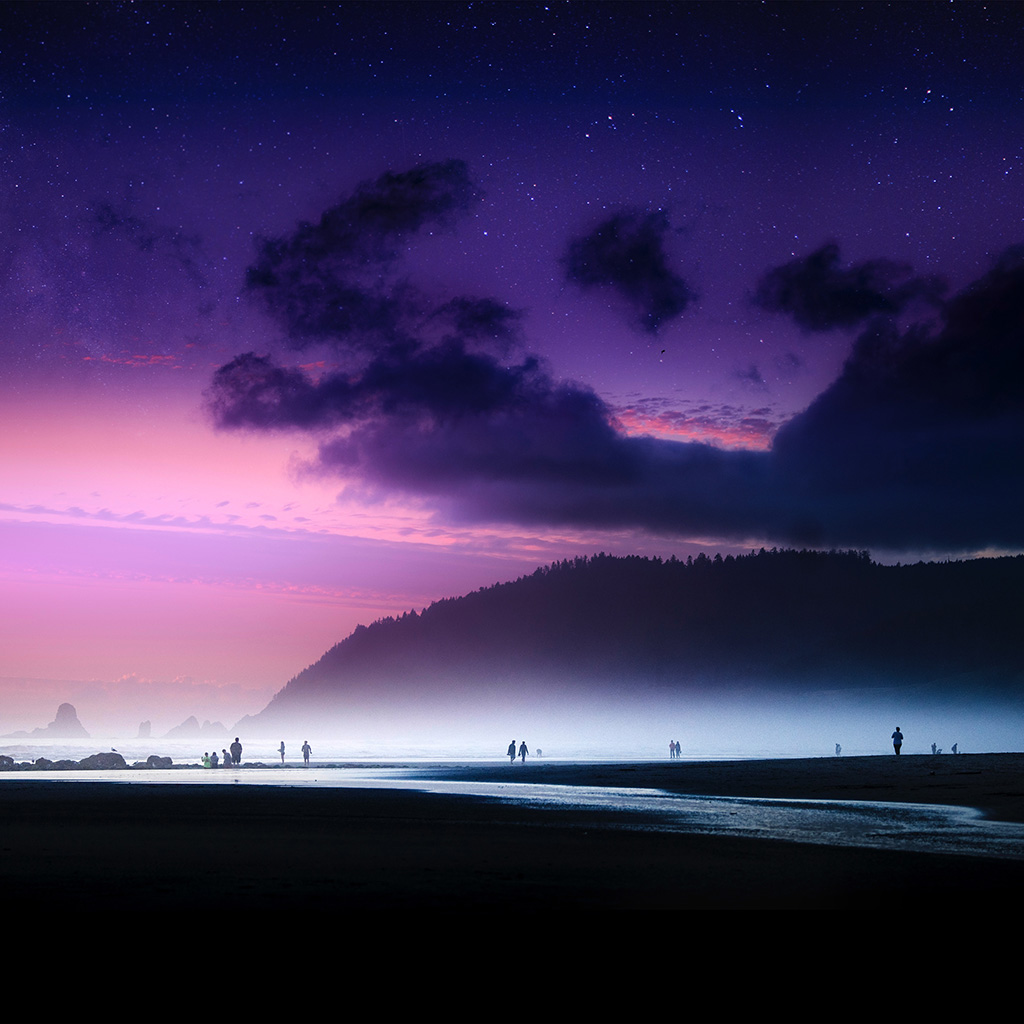 wallpaper-ny46-beach-lovely-cloud-sunset-purple-sea-nature-wallpaper