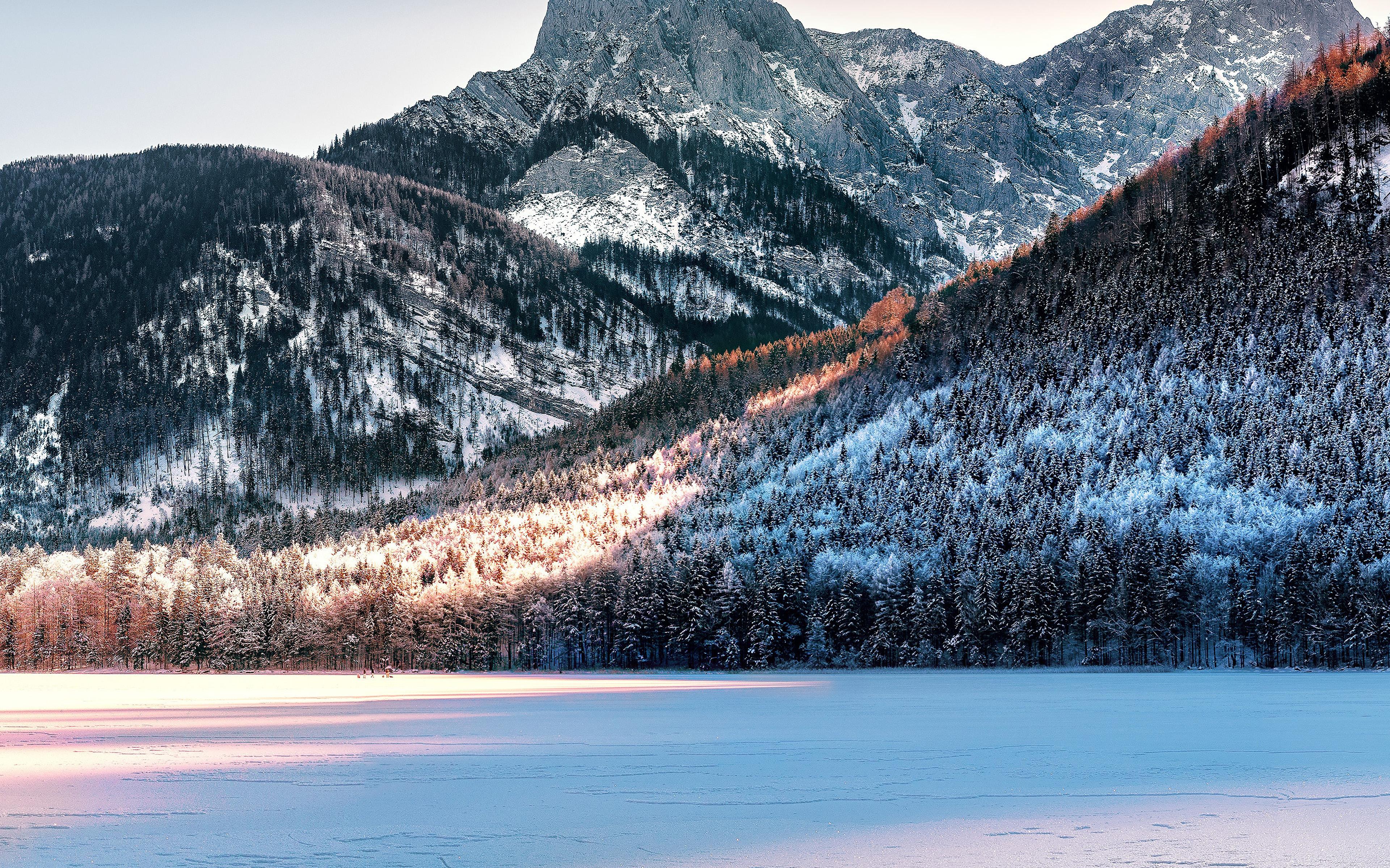 Ny97 Mountain Winter Snow Nature Wallpaper