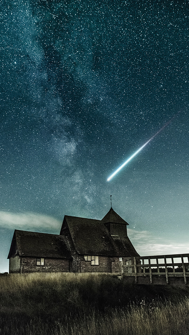 freeios8.com-iphone-4-5-6-plus-ipad-ios8-nz20-night-country-sky-star-space-nature