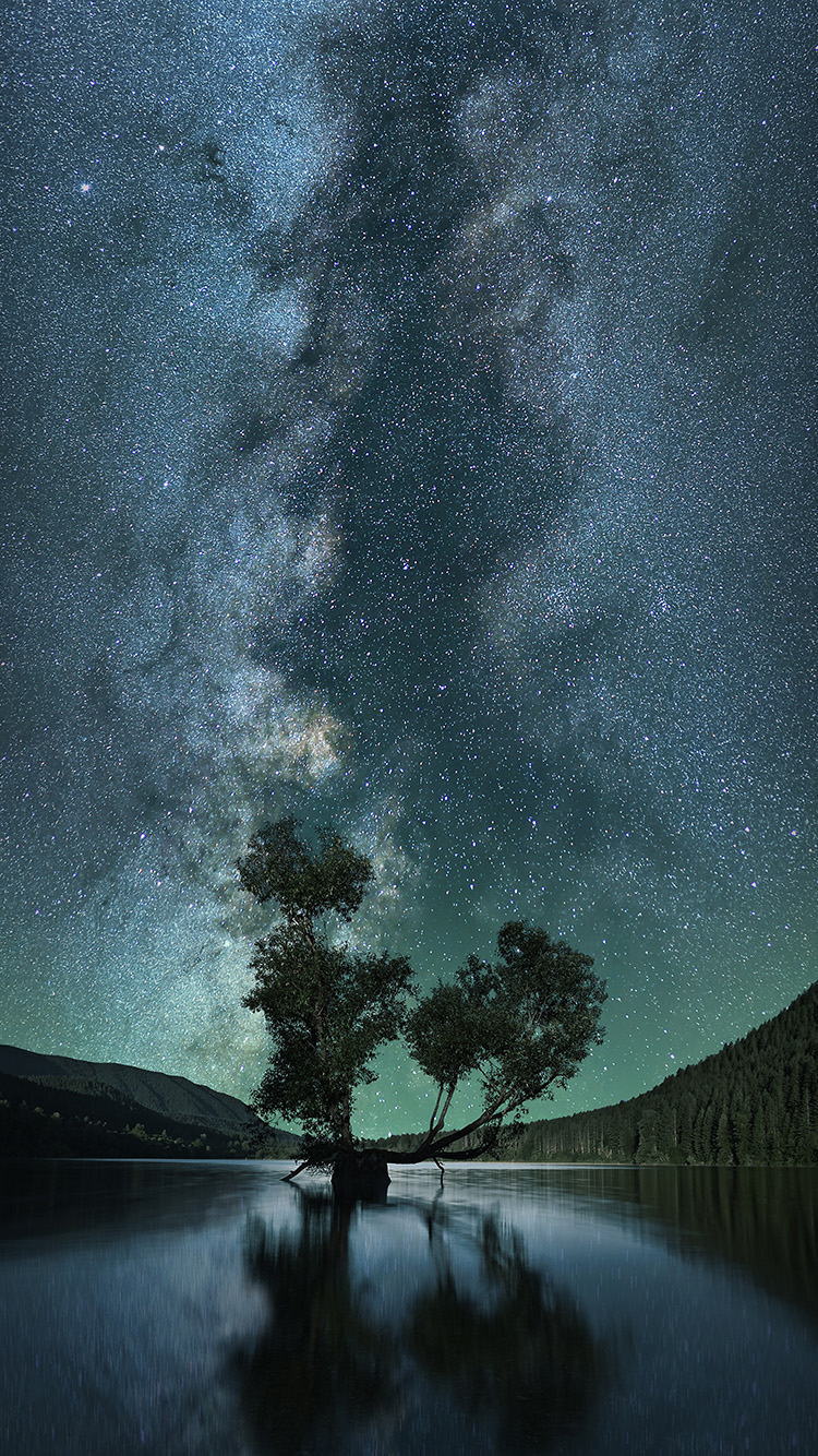 iPhone6papers.co-Apple-iPhone-6-iphone6-plus-wallpaper-nz27-night-sky-star-lake-nature