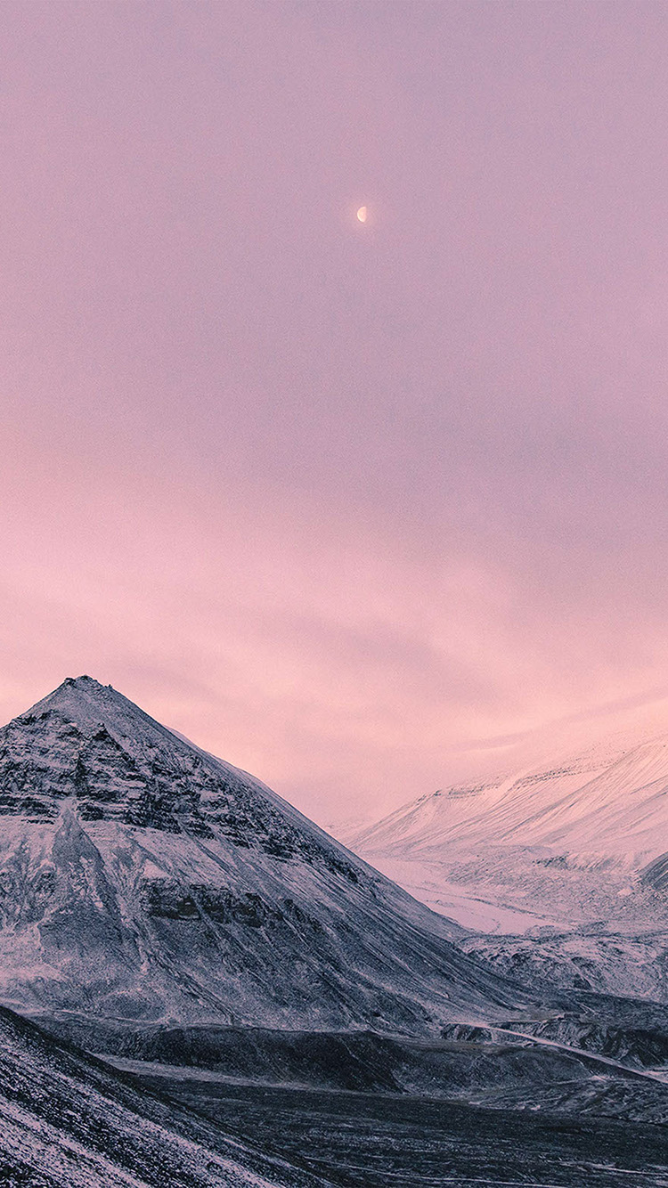 iPhonepapers.com-Apple-iPhone-wallpaper-nz64-snow-winter-moon-mountain-nature-pink